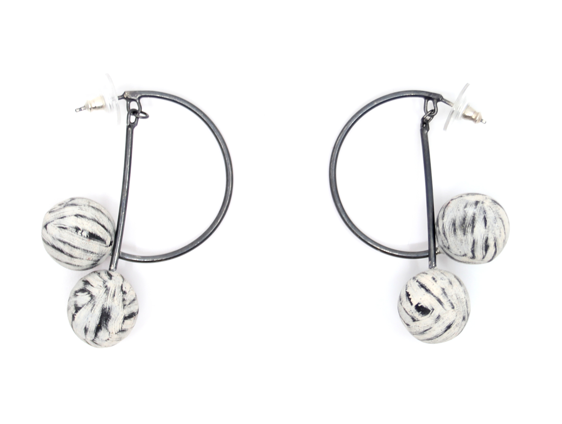 Double Balance Hoops by Lindsay Locatelli