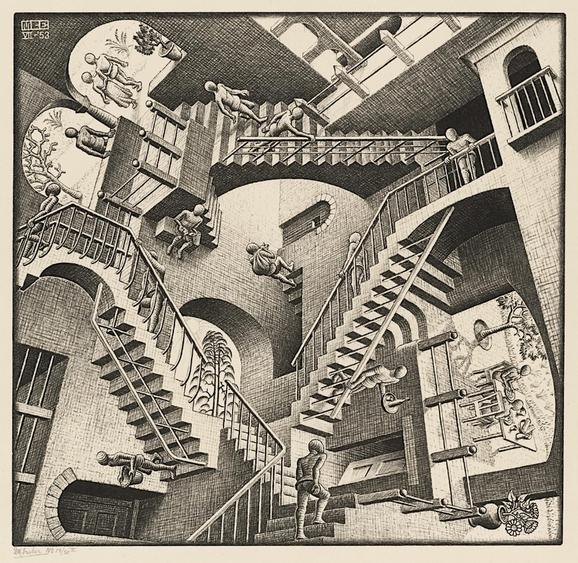 Relativity by M.C. Escher