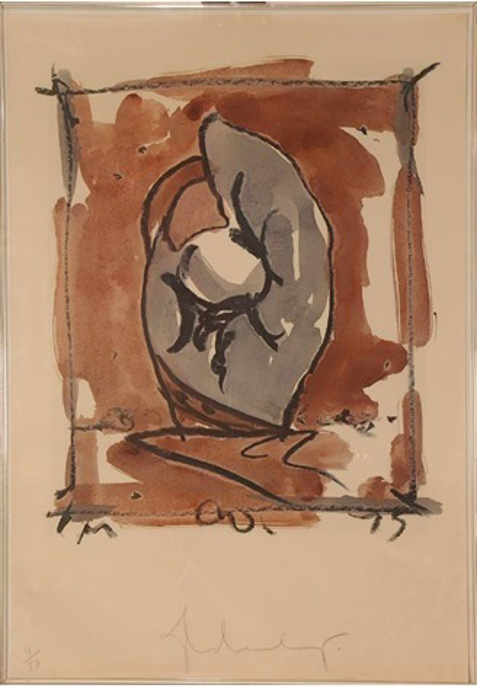 Study for Standing Mitt by Claes Oldenburg
