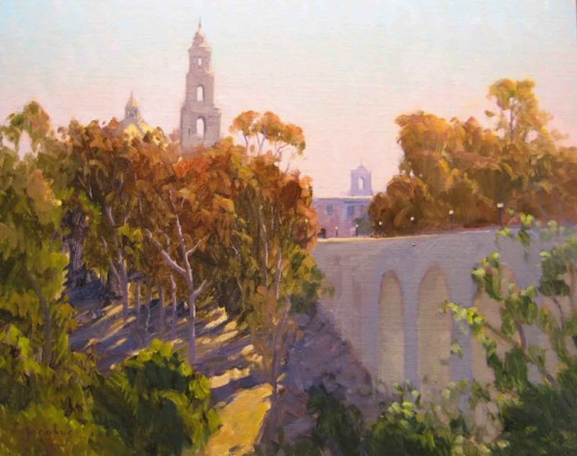 Morning Shadows, Balboa Park by Jacobus Baas