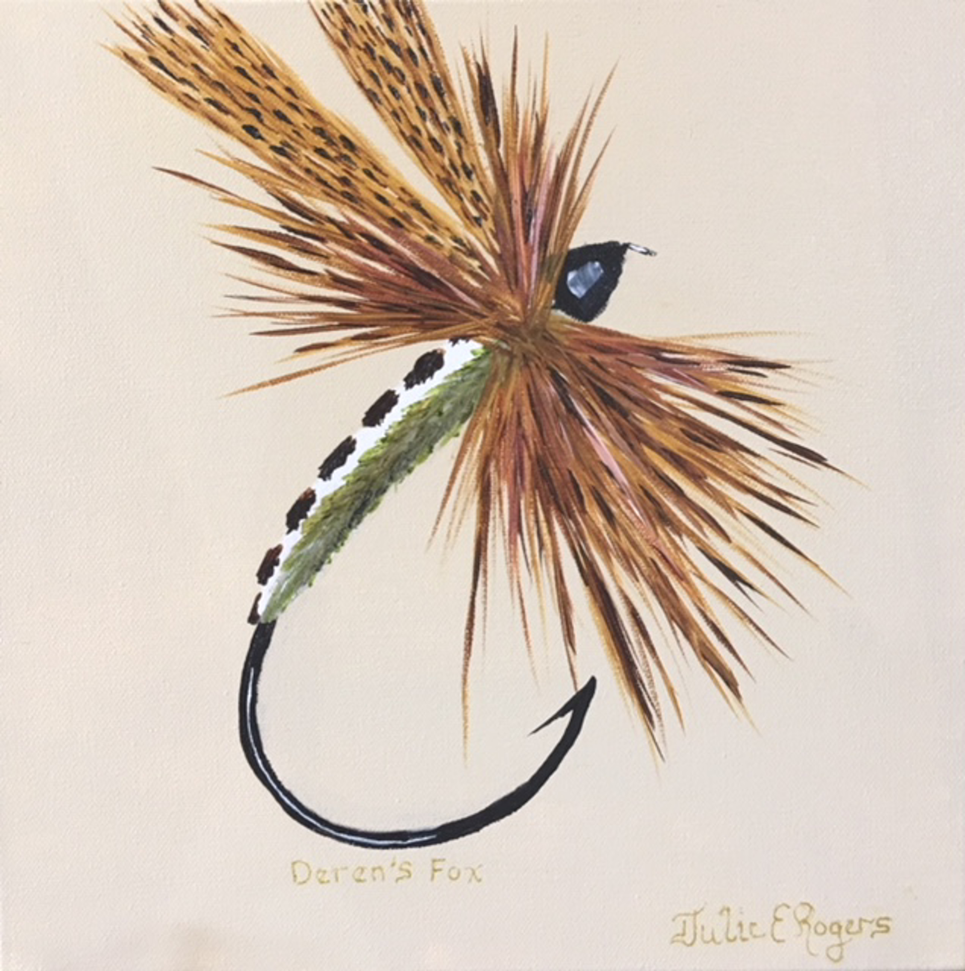 Deren's Fox Dry Fly by Julie Rogers