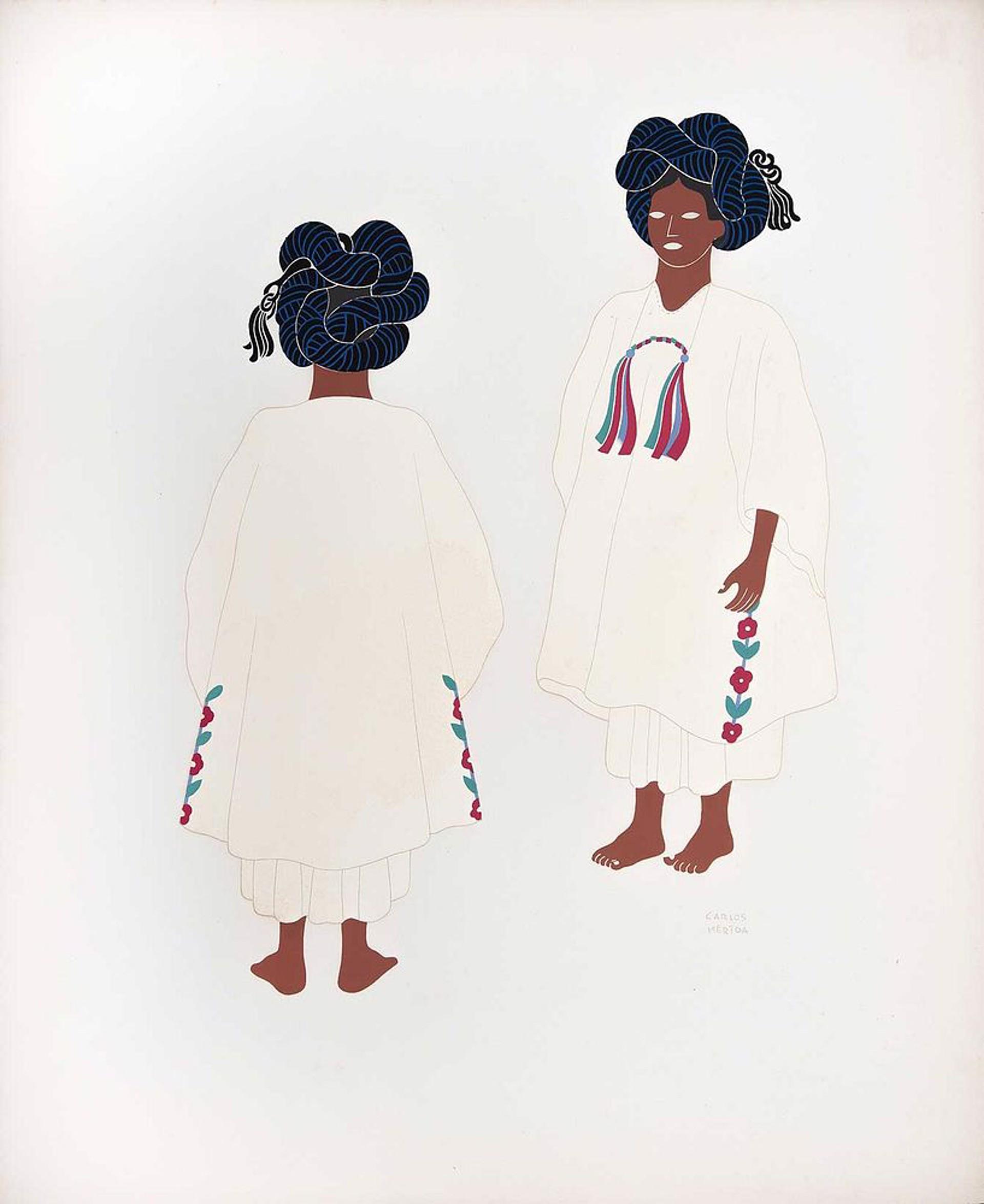 Yalatecs of the State of Oaxaca by Carlos Mérida (1891 - 1985)