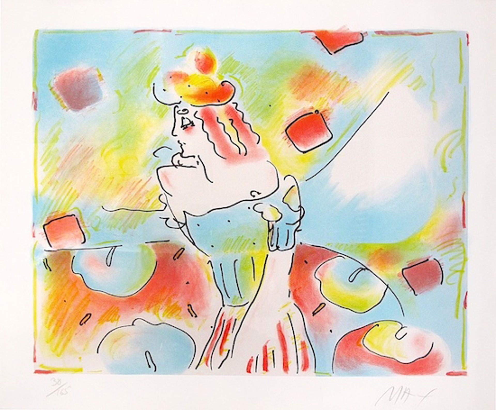 Composition Red and Green by Peter Max