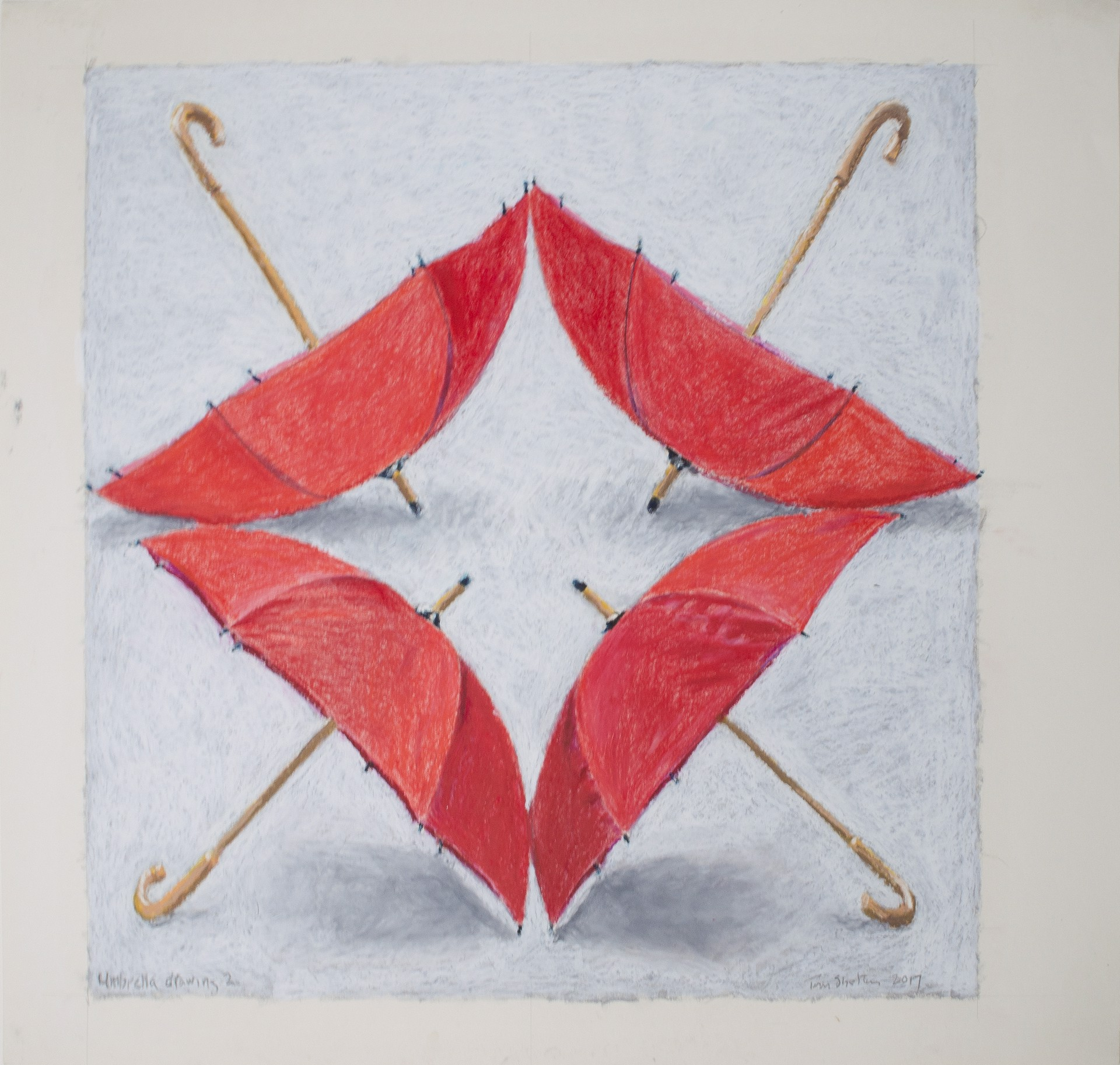 Umbrella Drawing II by Tom Shelton