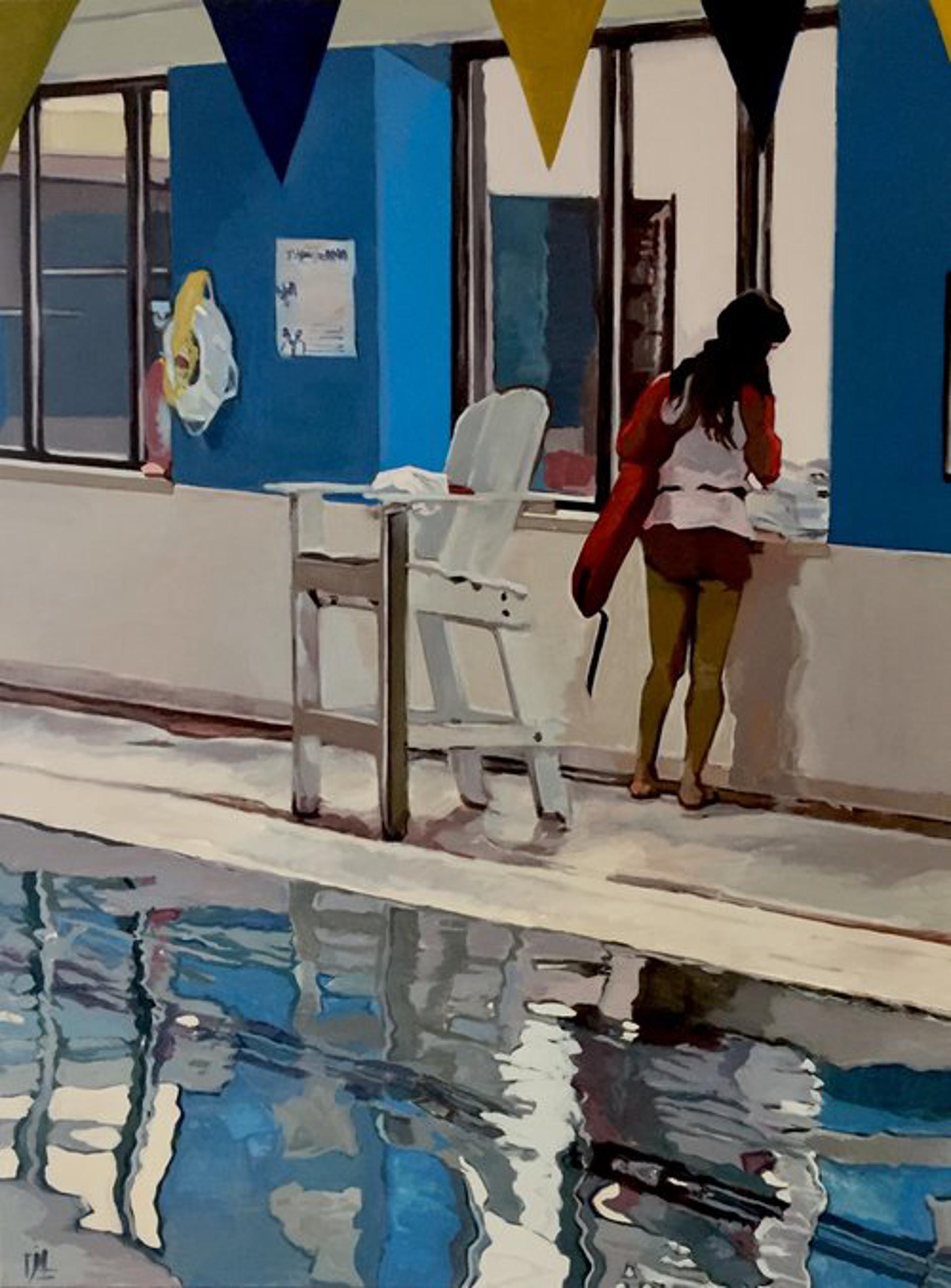 Swimming Inside in Winter by Julie Larick