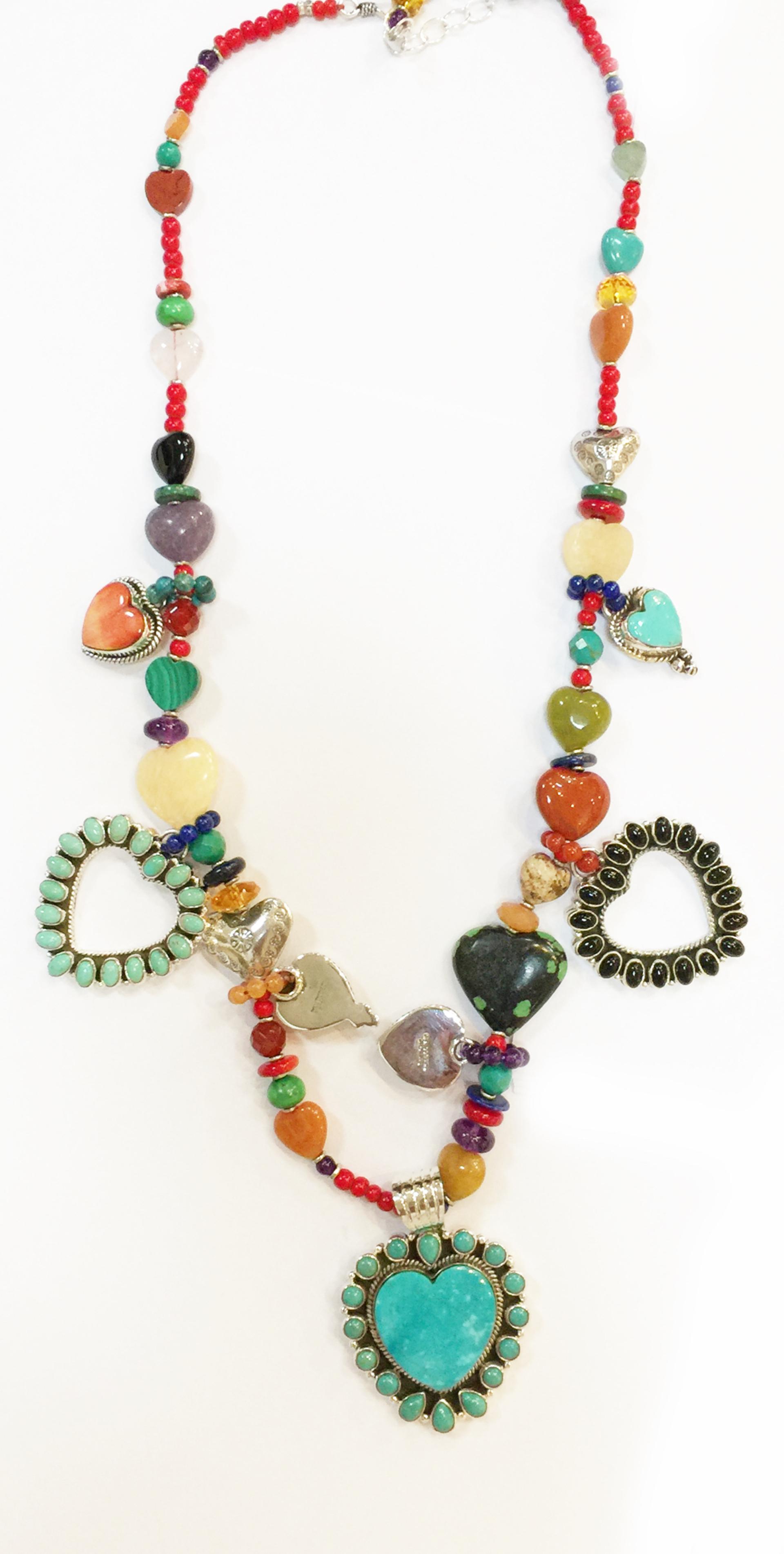 KY 1347 - Single Strand Multi Color Heart by Kim Yubeta