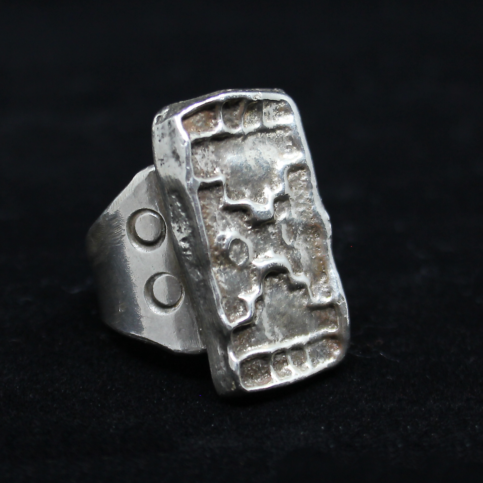 Rectangle Steps Ring by Jeremiah Rosethorn