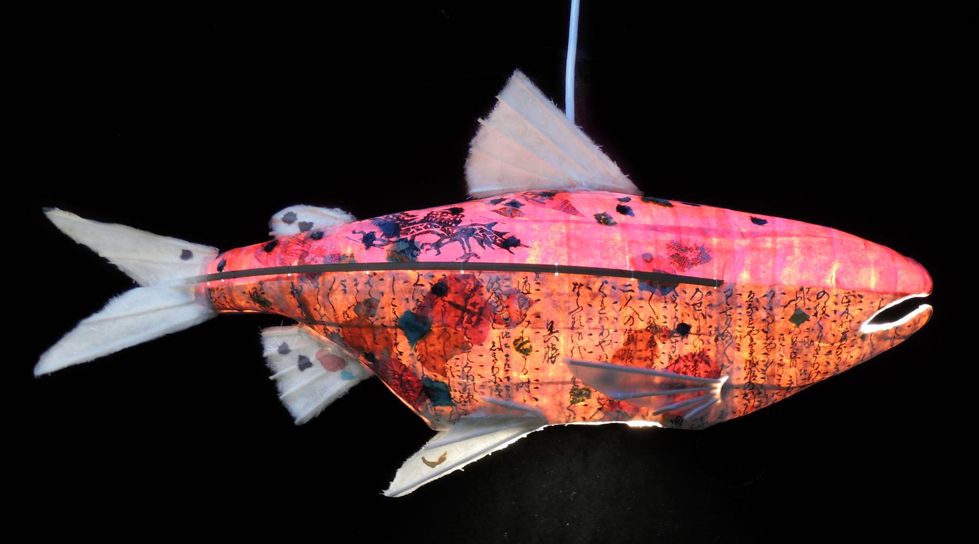 Warm Back Salmon Chandelier by Elaine Hanowell