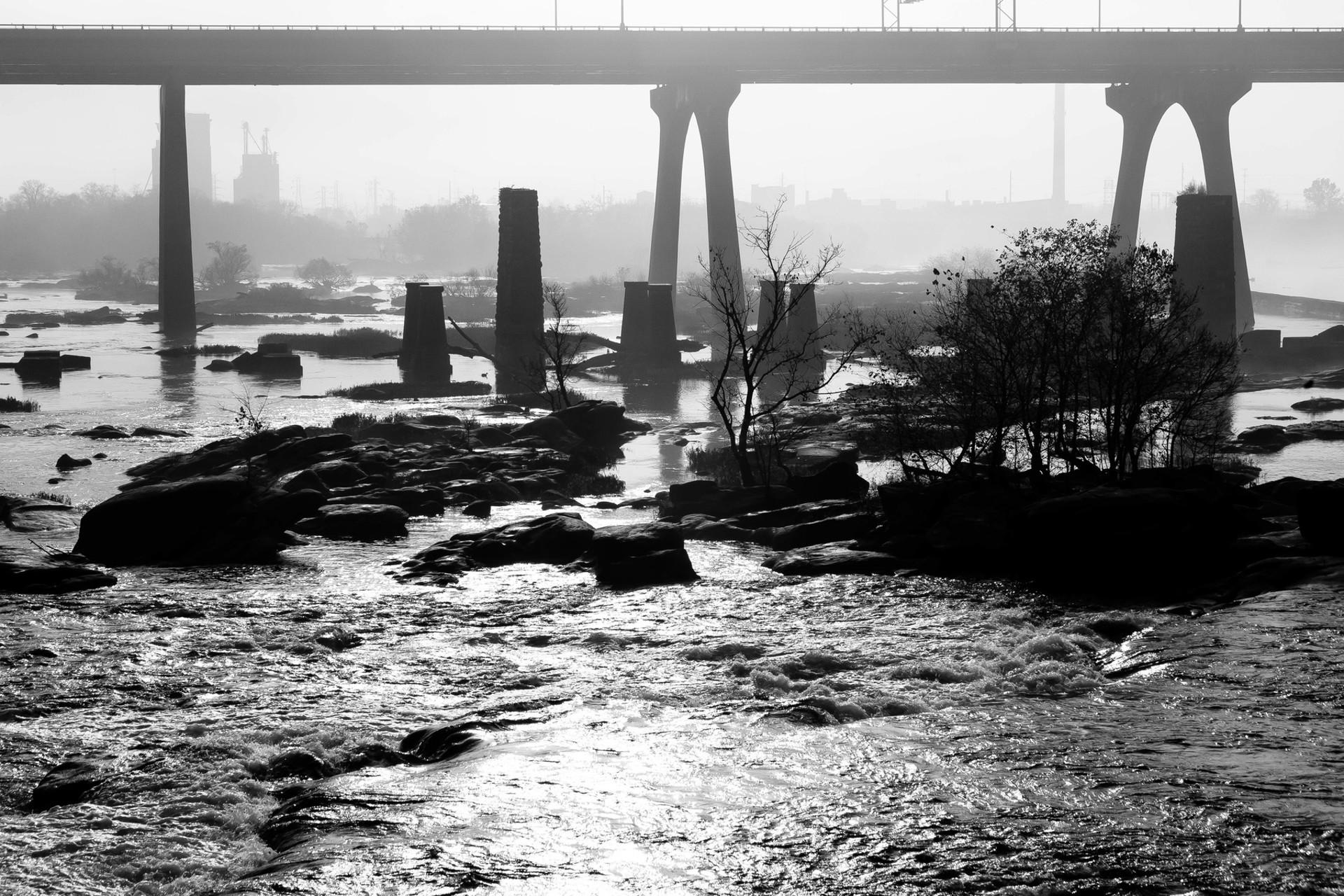 james river bridge/fog II by Alex Nyerges