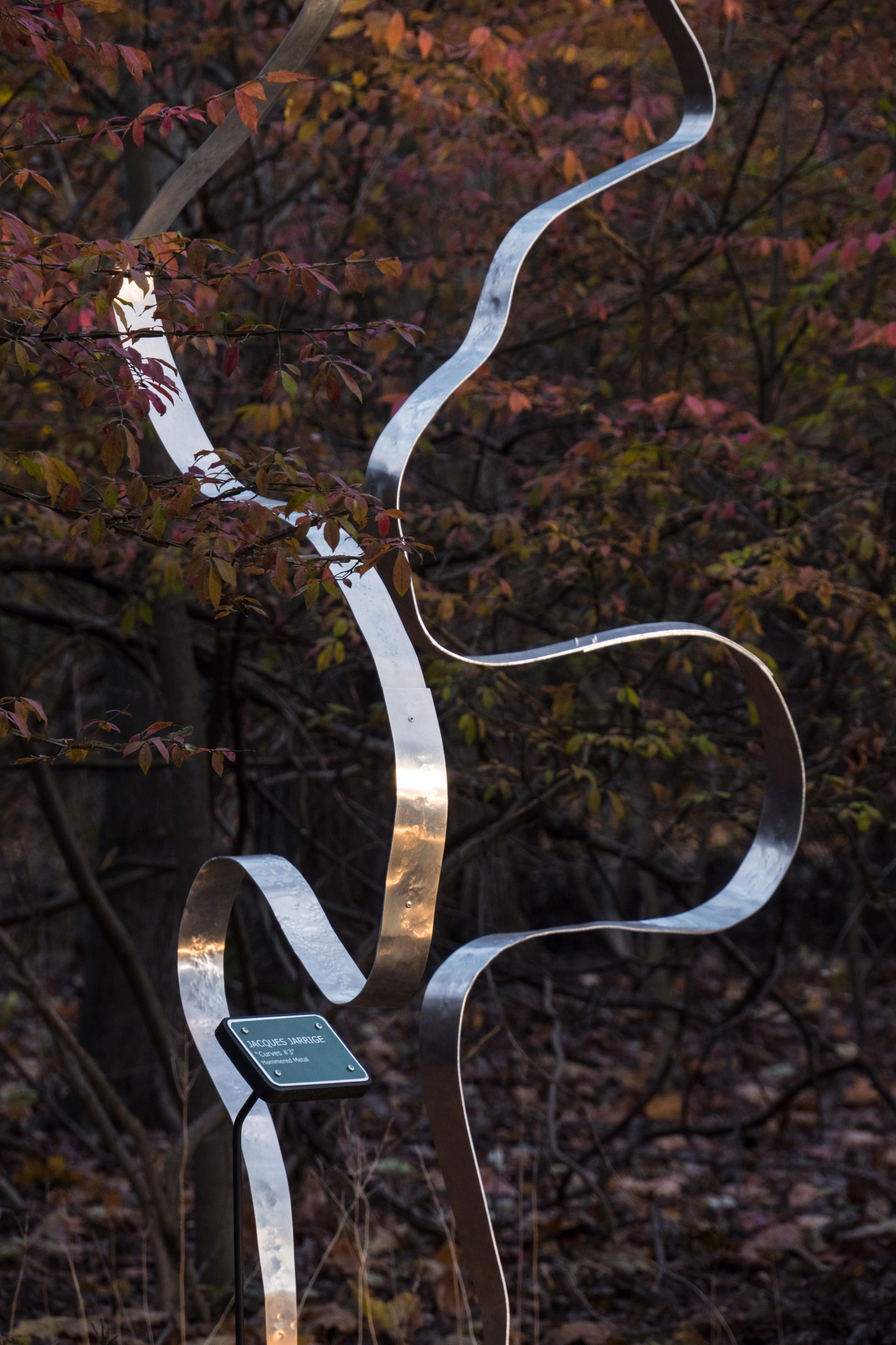 """Curves #4 "" Kinetic Sculpture  by Jacques Jarrige"