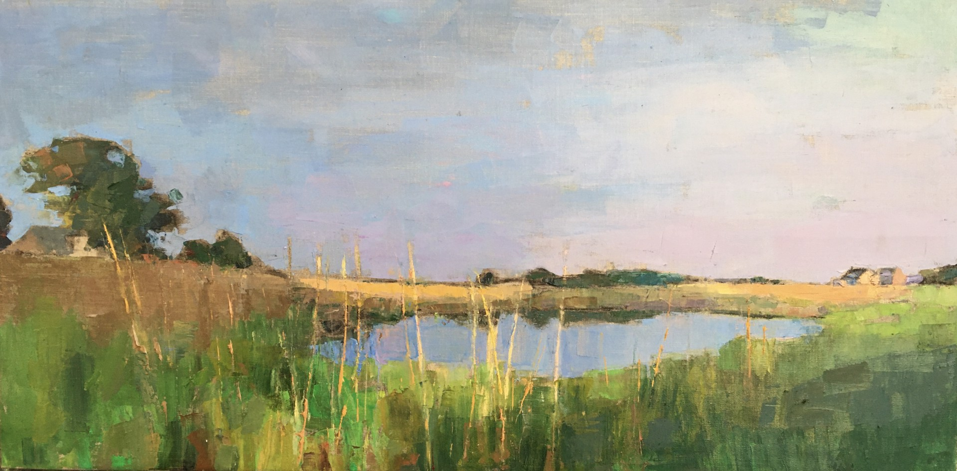 Beach Cottages, Marsh Grasses by Larry Horowitz