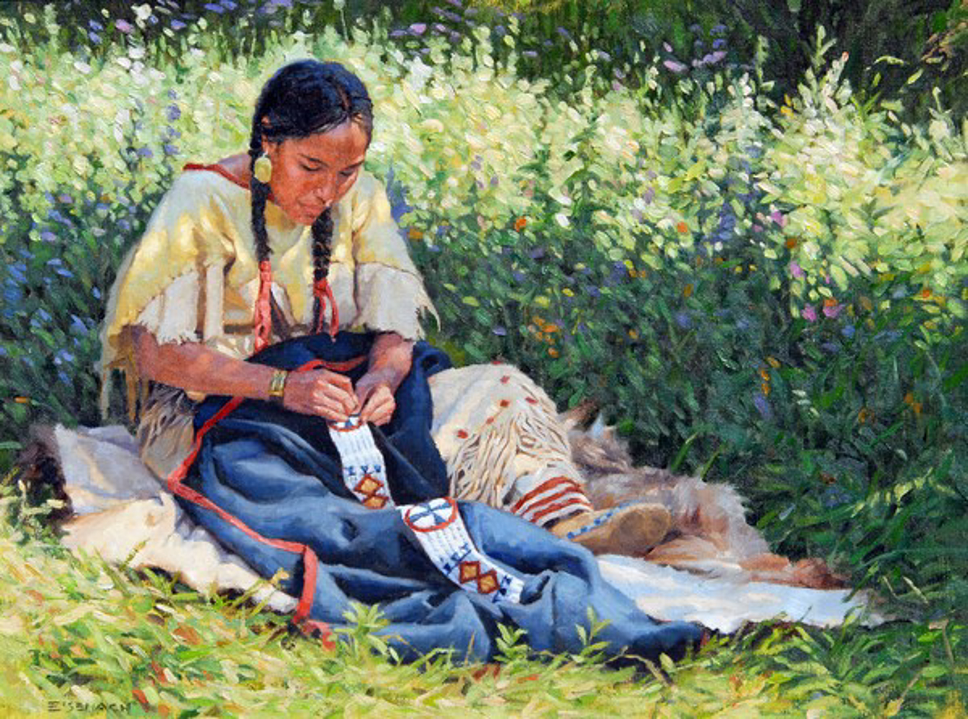 Courting Blanket by Barry Eisenach
