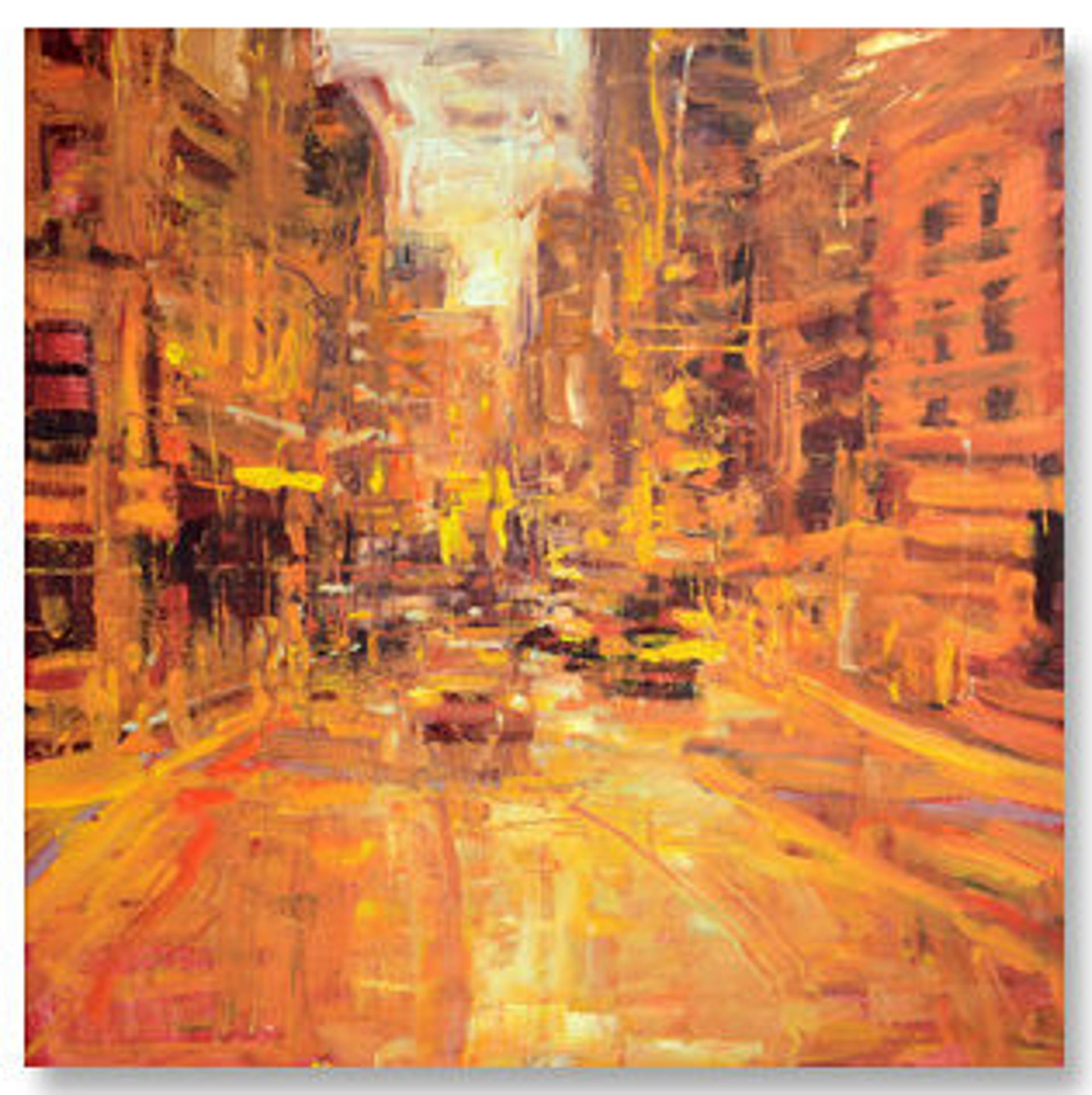 Urbanscape in Orange by Jim Beckner
