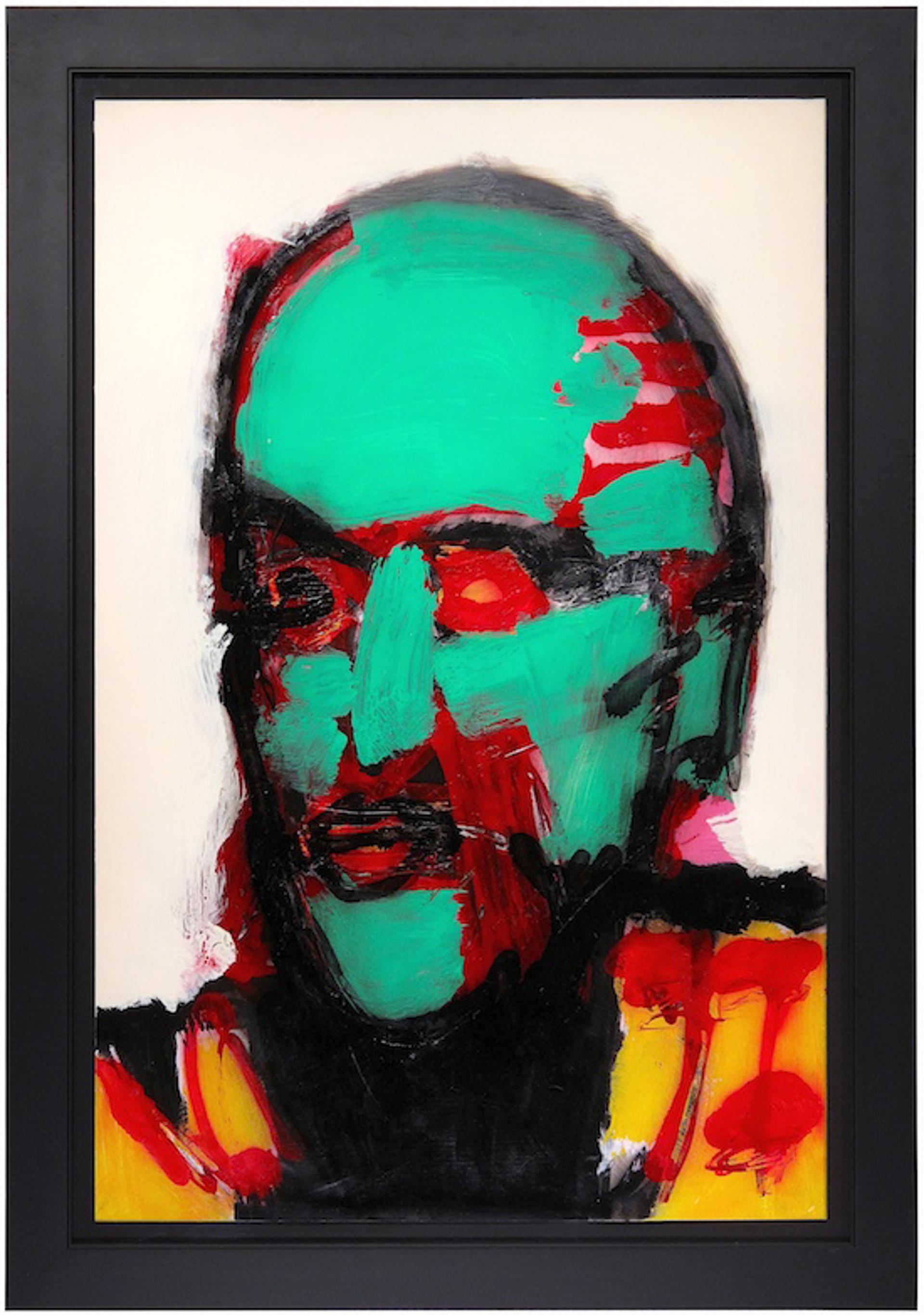 Green Head, Red Eyes by Nick Vukmanovich