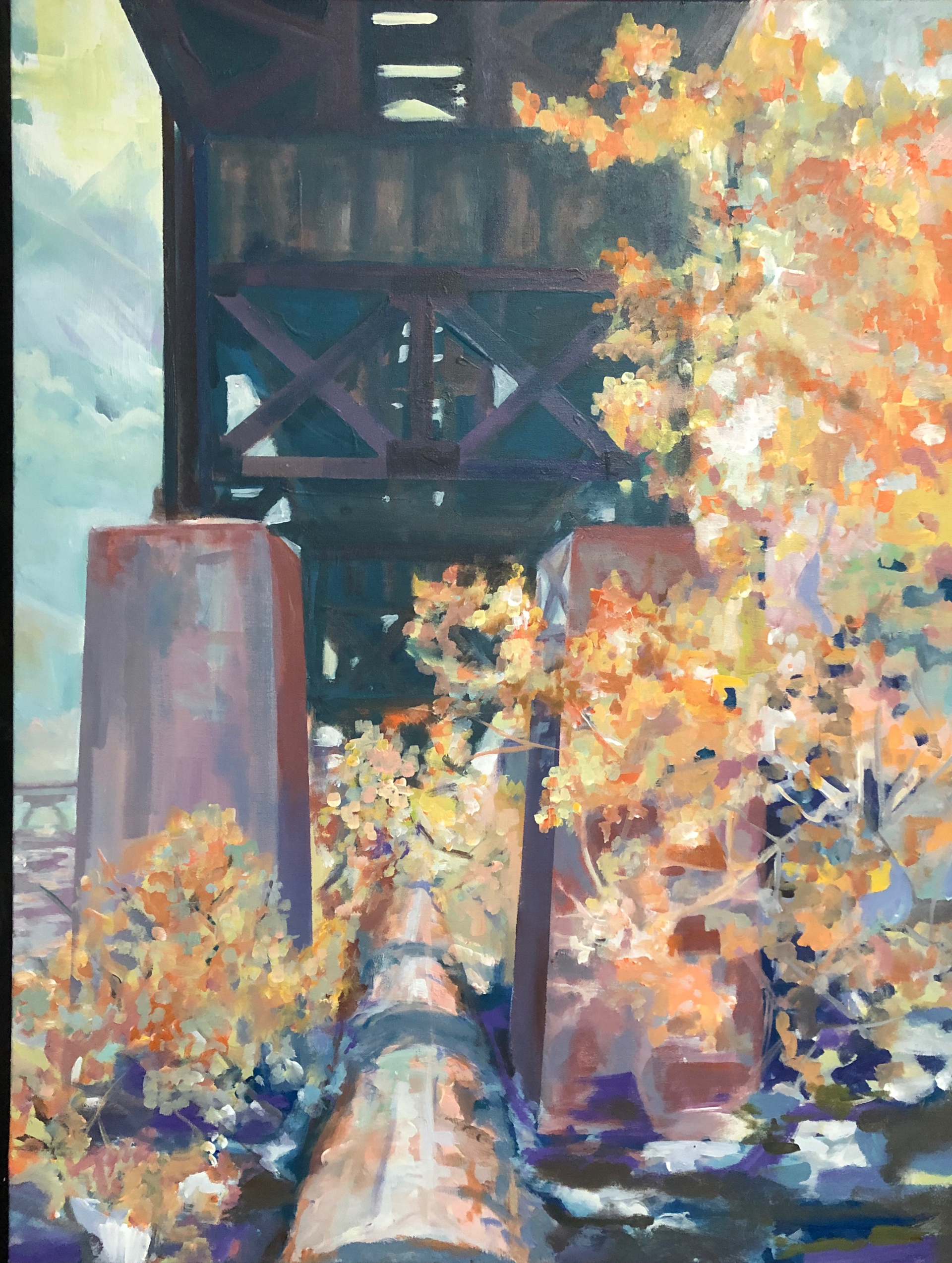 Fall Pipeline Walk, River Birch Set Aflame , Summer's Last Lament by Ed Trask