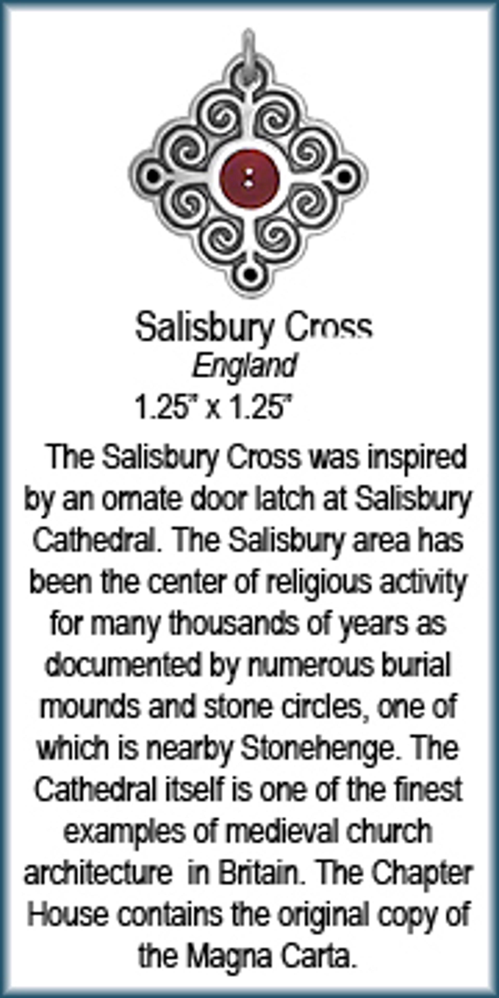 Pendant - Silver Salisbury Cross Asst. Stones  8925 by Deanne McKeown