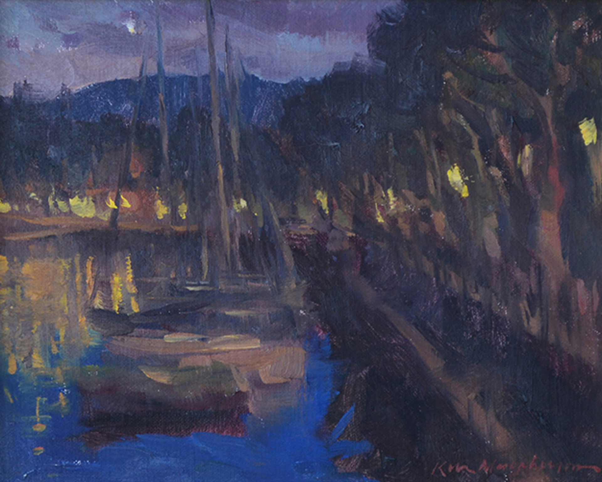 Evening Lights on Lake Como by Kevin Macpherson