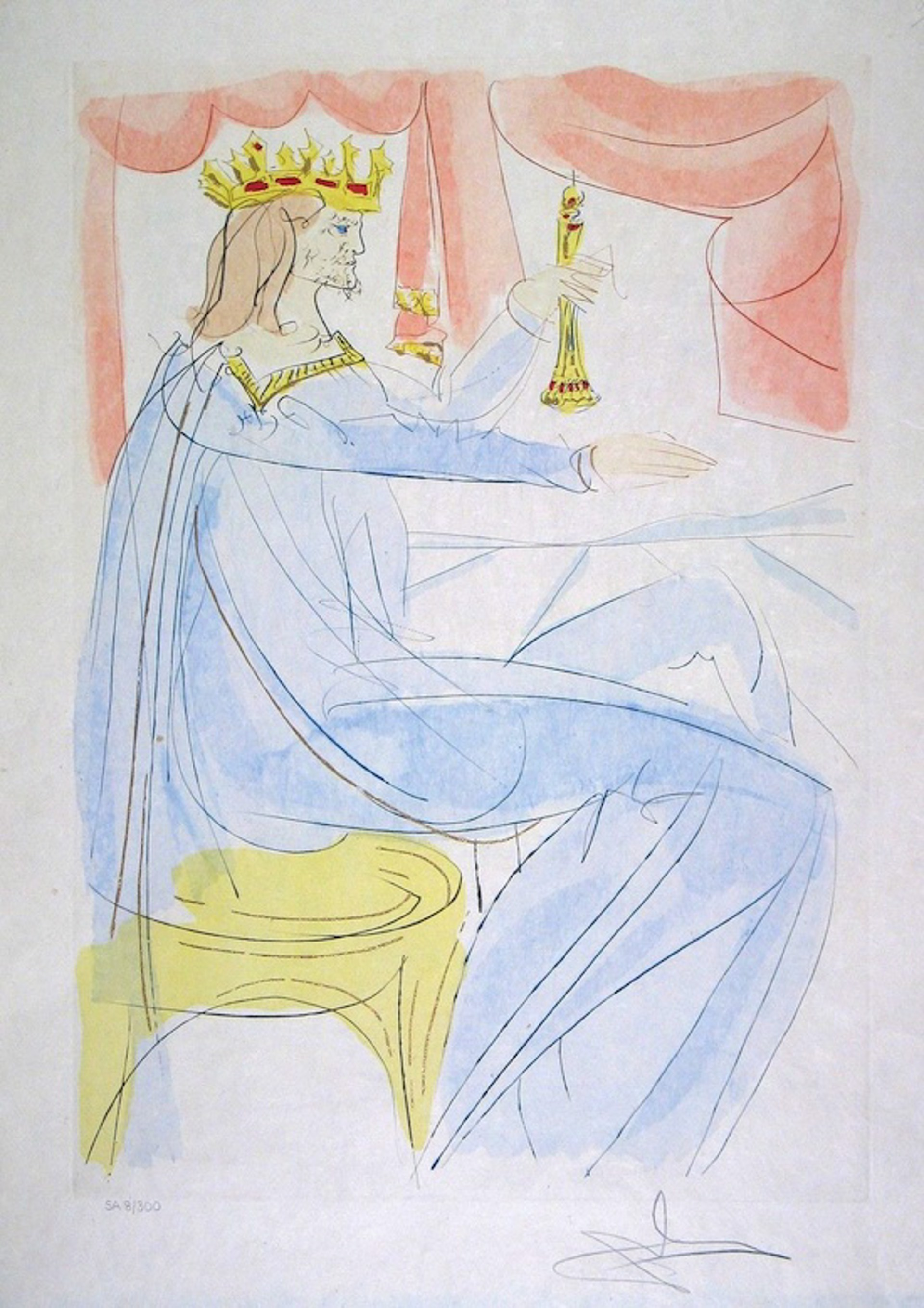 King Solomon (from Our Historical Heritage, suite of 11) by Salvador Dali