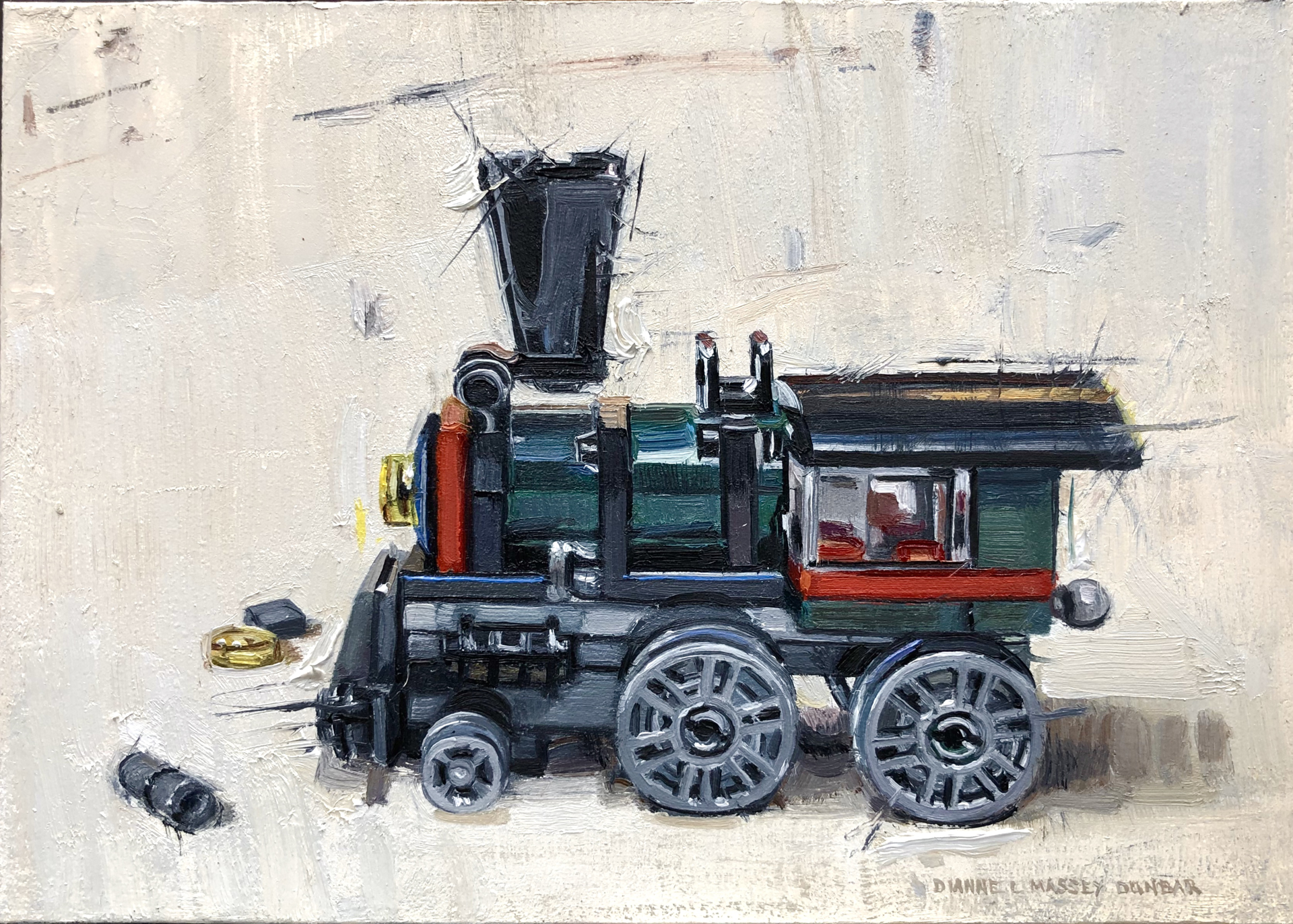 Train Engine by Dianne L Massey Dunbar