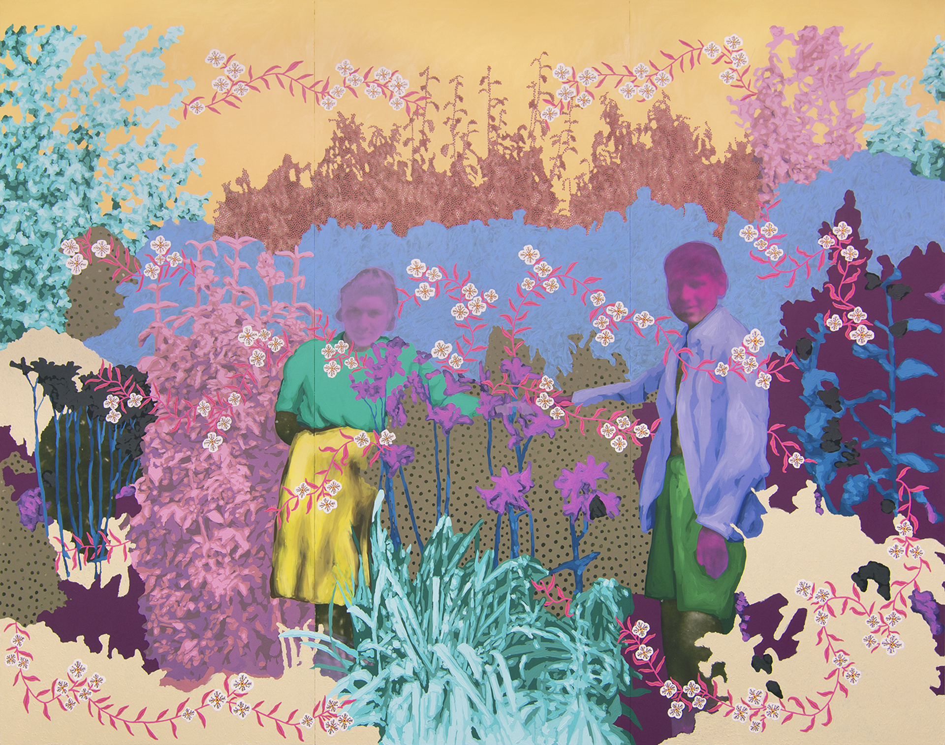 Untitled (Sweethearts Among the Lilies) by Daisy Patton