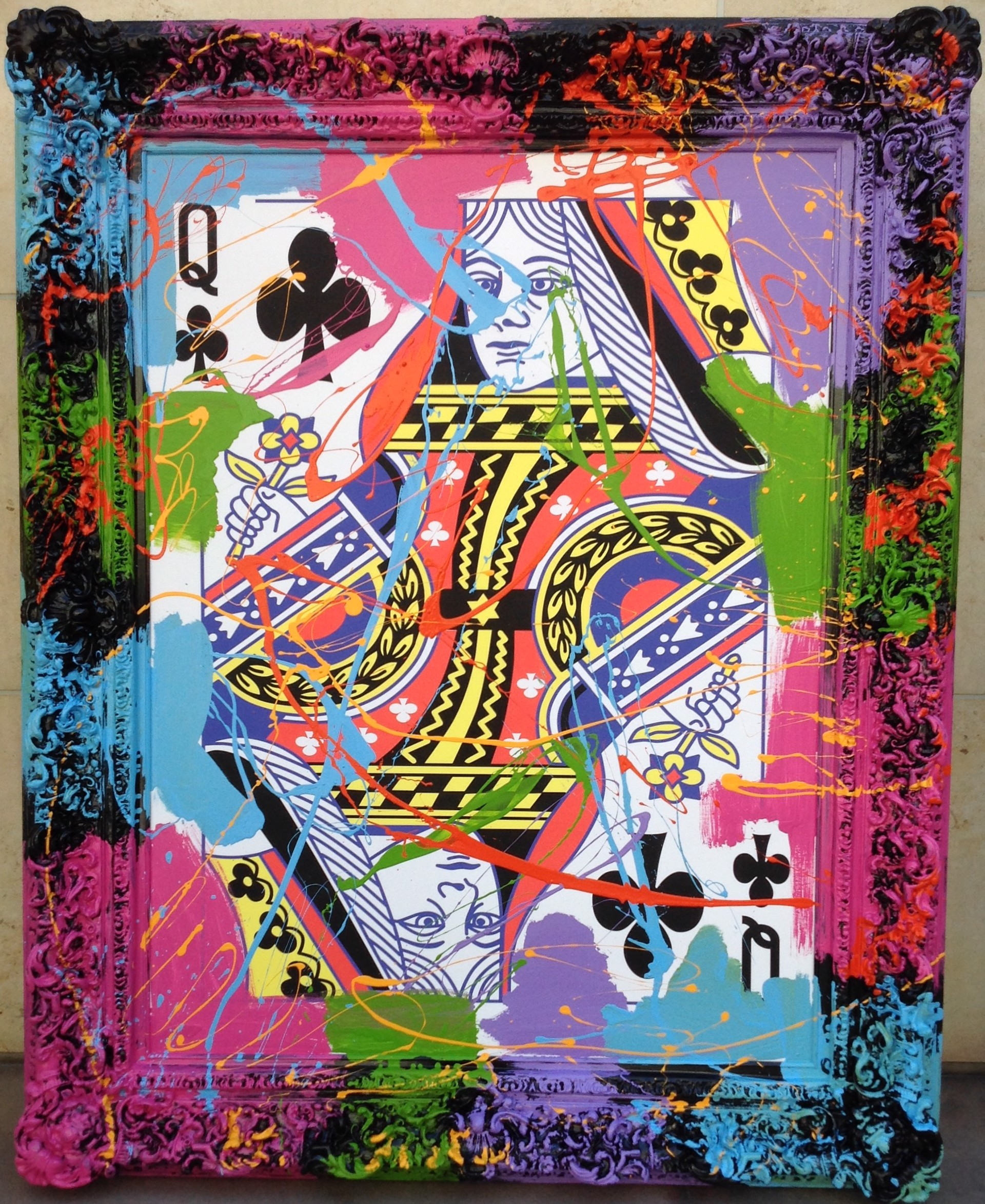 Queen of Clubs by Elena Bulatova