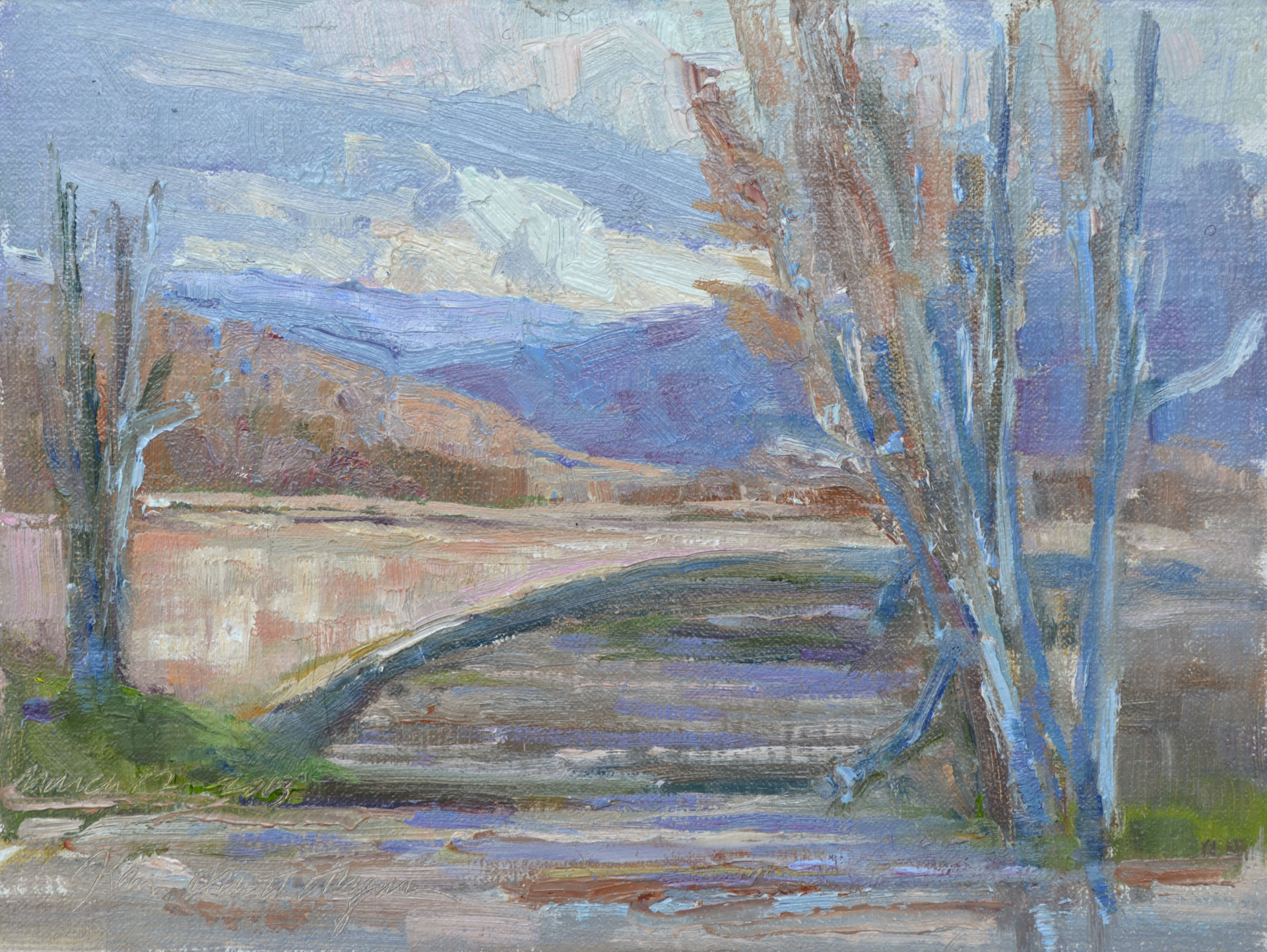 The Arno River On a Cold Day by Karen Hewitt Hagan