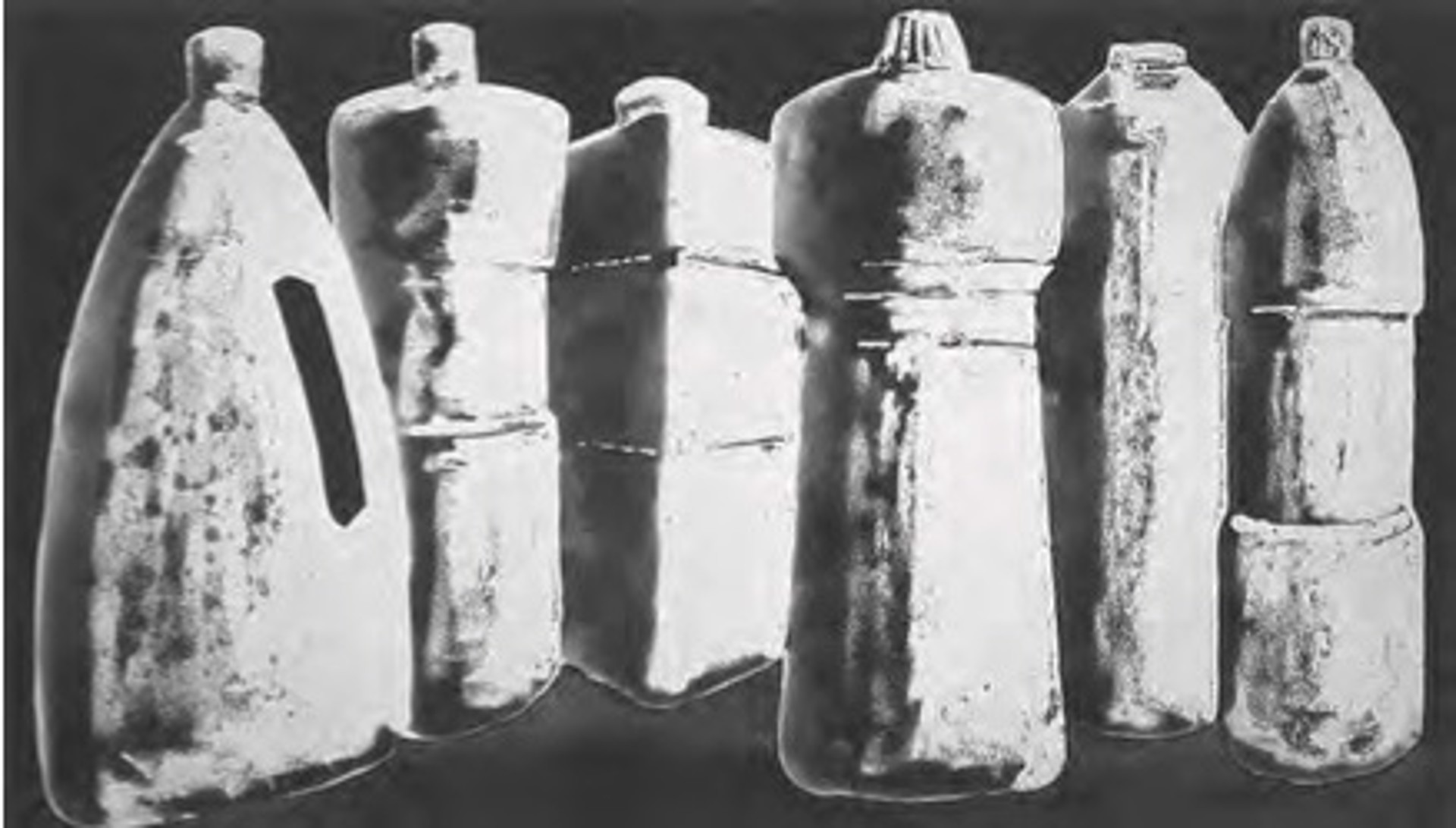 Six Bottles, State 1 by Tony Cragg