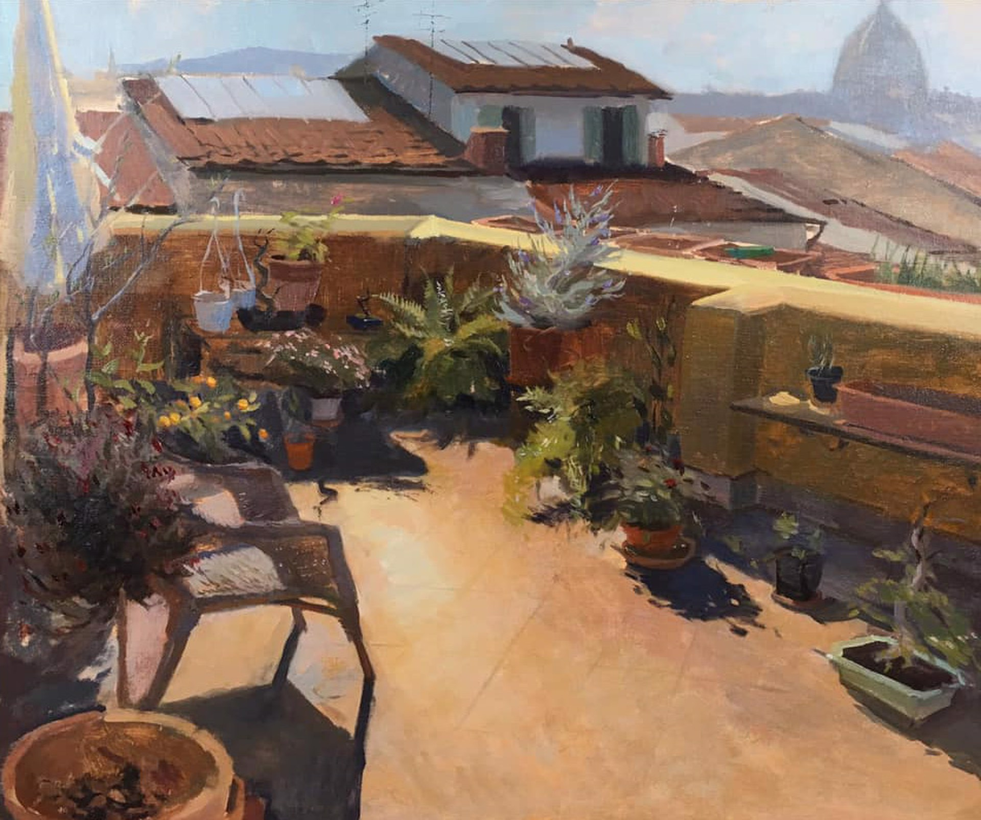 Sunlit Terrace (Florence, Italy) by Tanvi Pathare