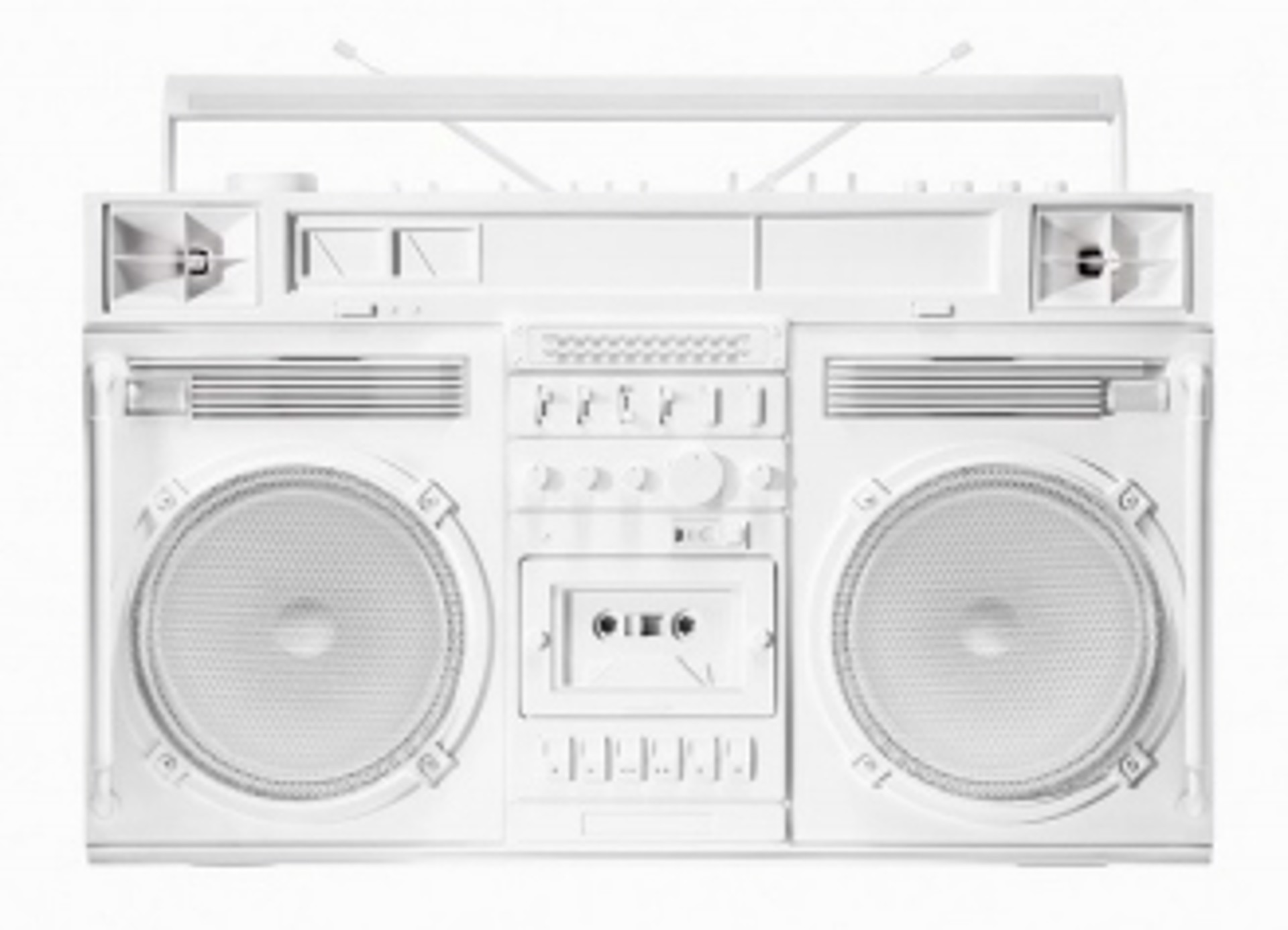 Boombox Sculpture series Size D, White by Lyle Owerko