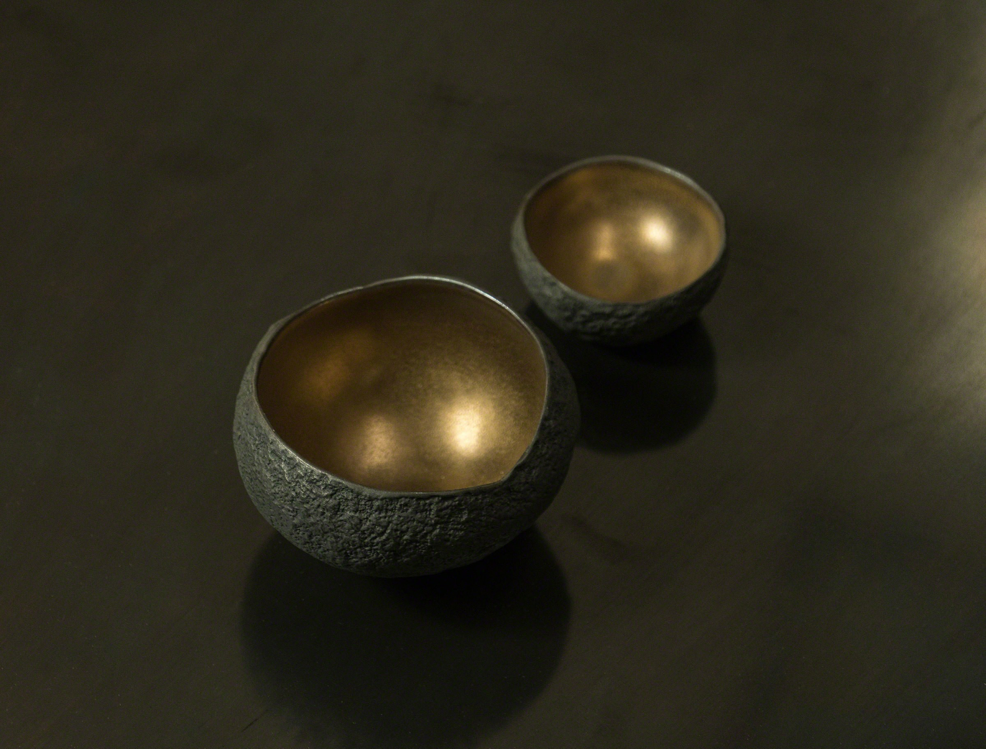 Set of 8 small CERAMIC vessels  by Cristina Salusti