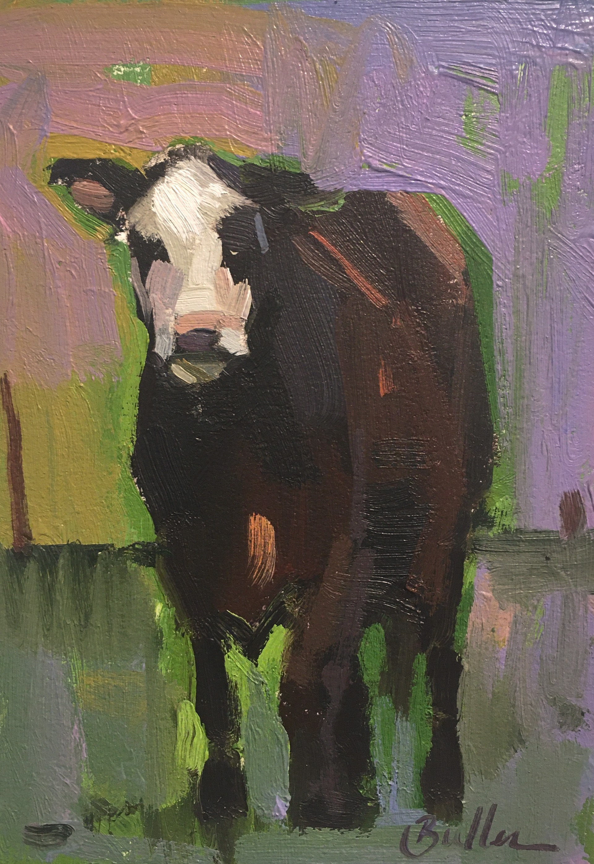 Colorful Cow by Samantha Buller