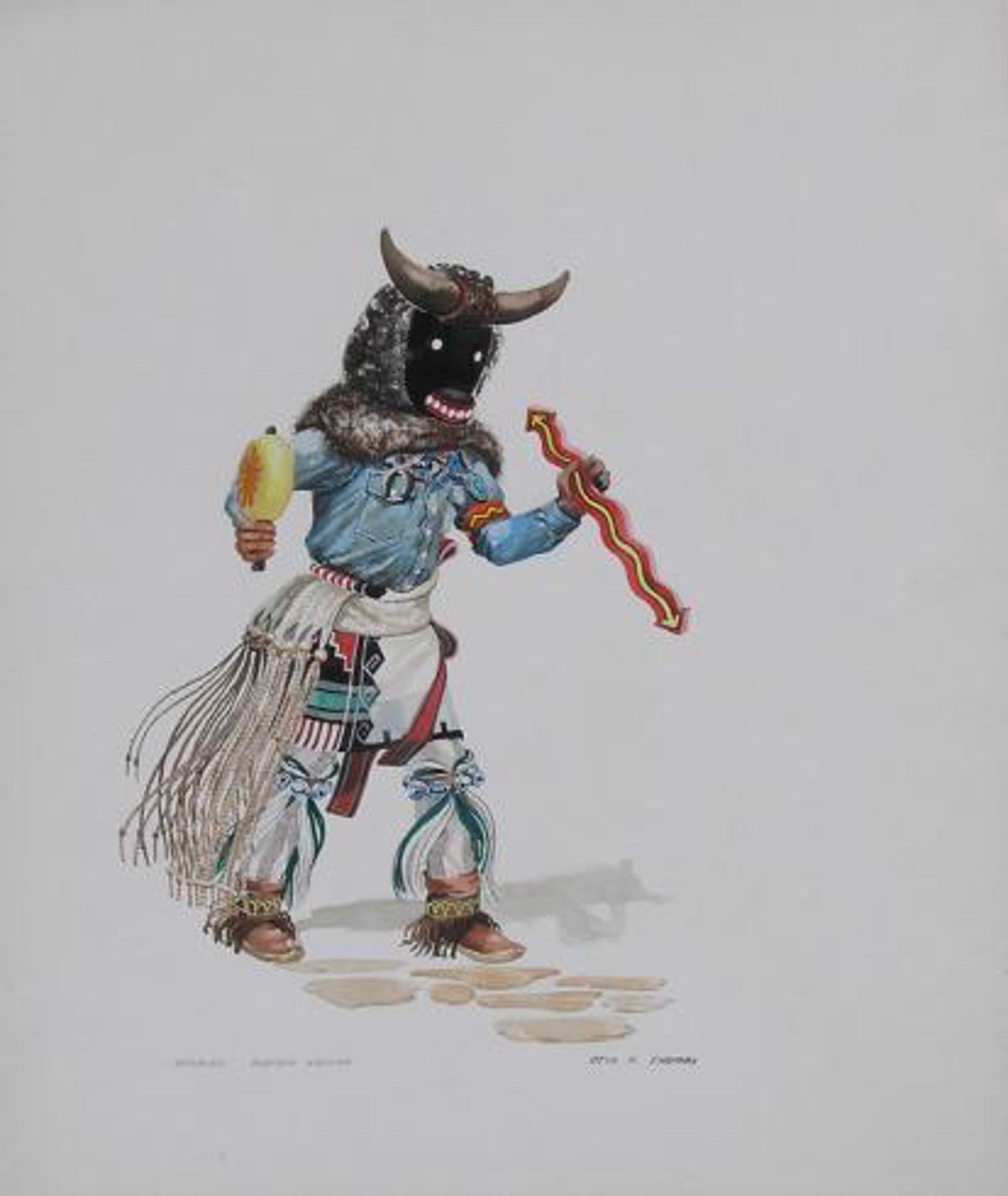 Mosairu-Buffalo Kachina by Otis Thomas