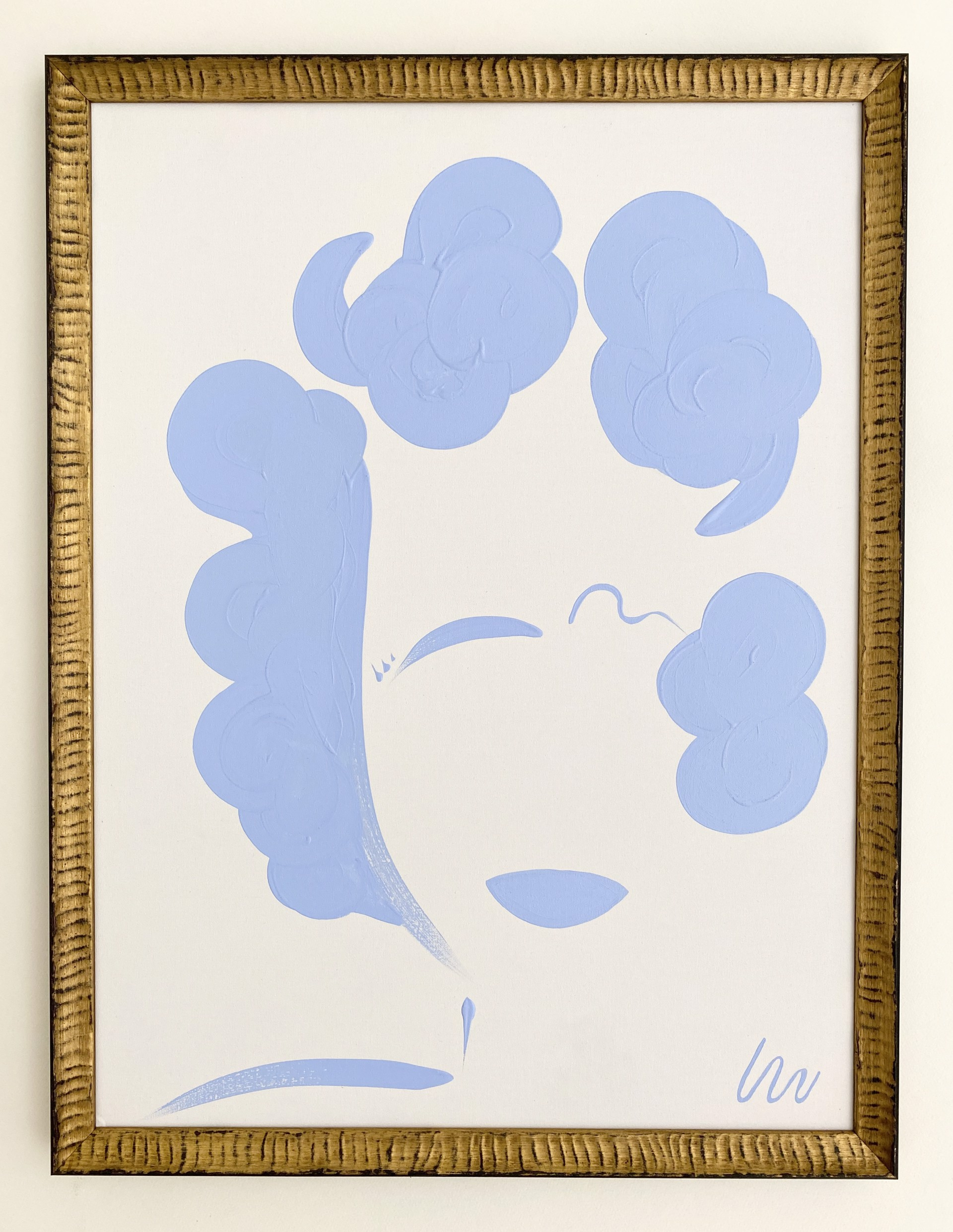 Azure Blue Lady, I by Whitney Stoddard