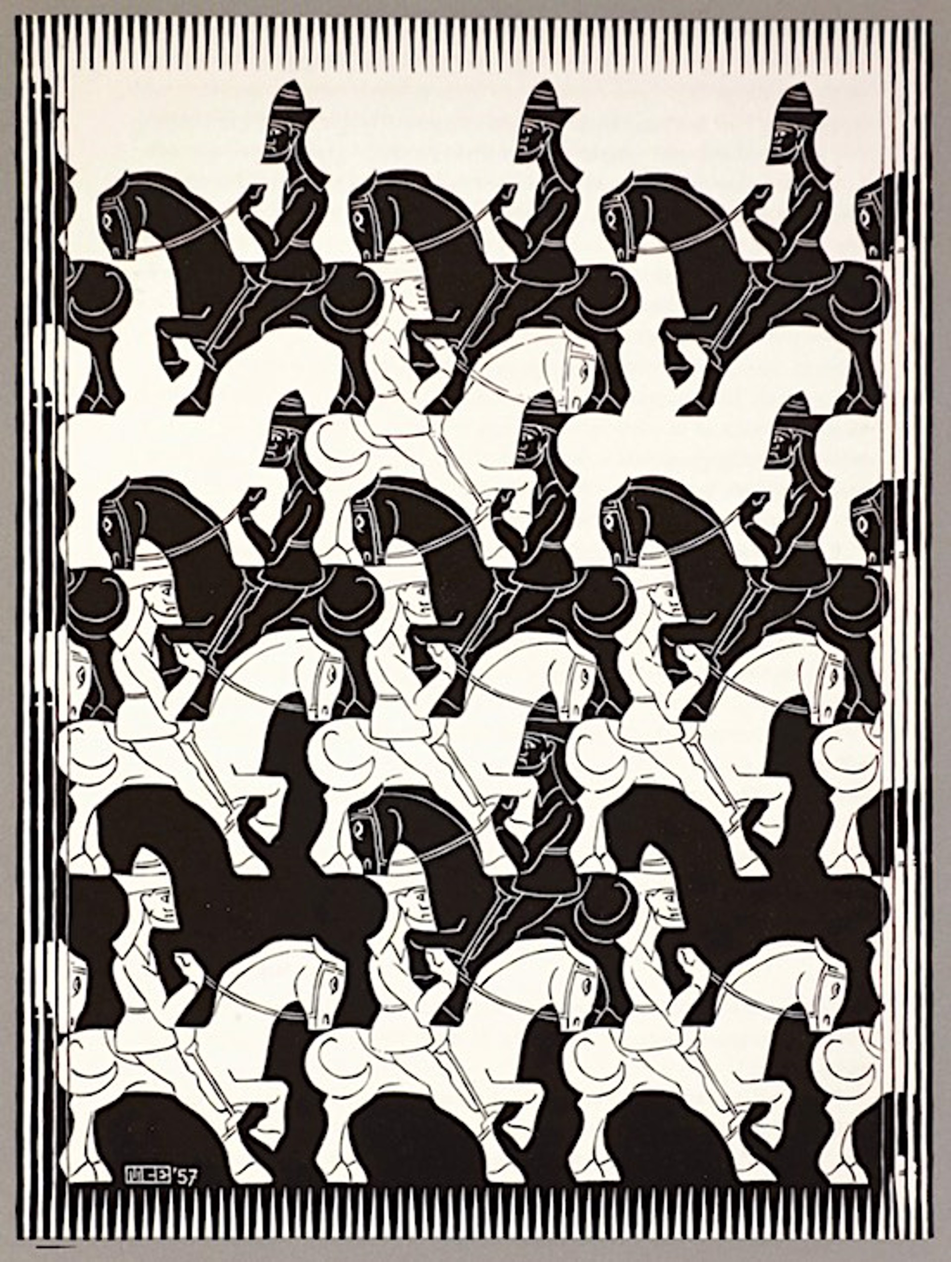 Regular Division of the Plane III by M.C. Escher
