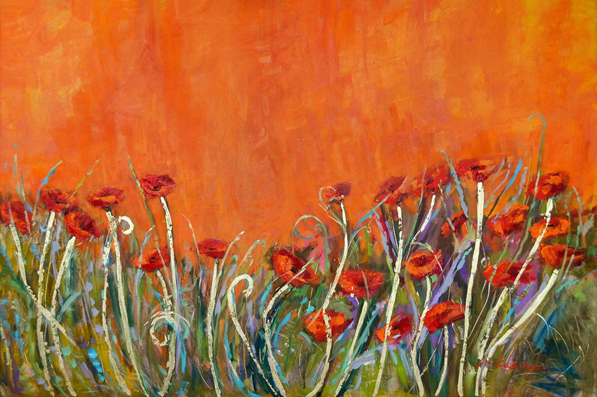 Glorious Poppies of Tuscany by Karen Hewitt Hagan