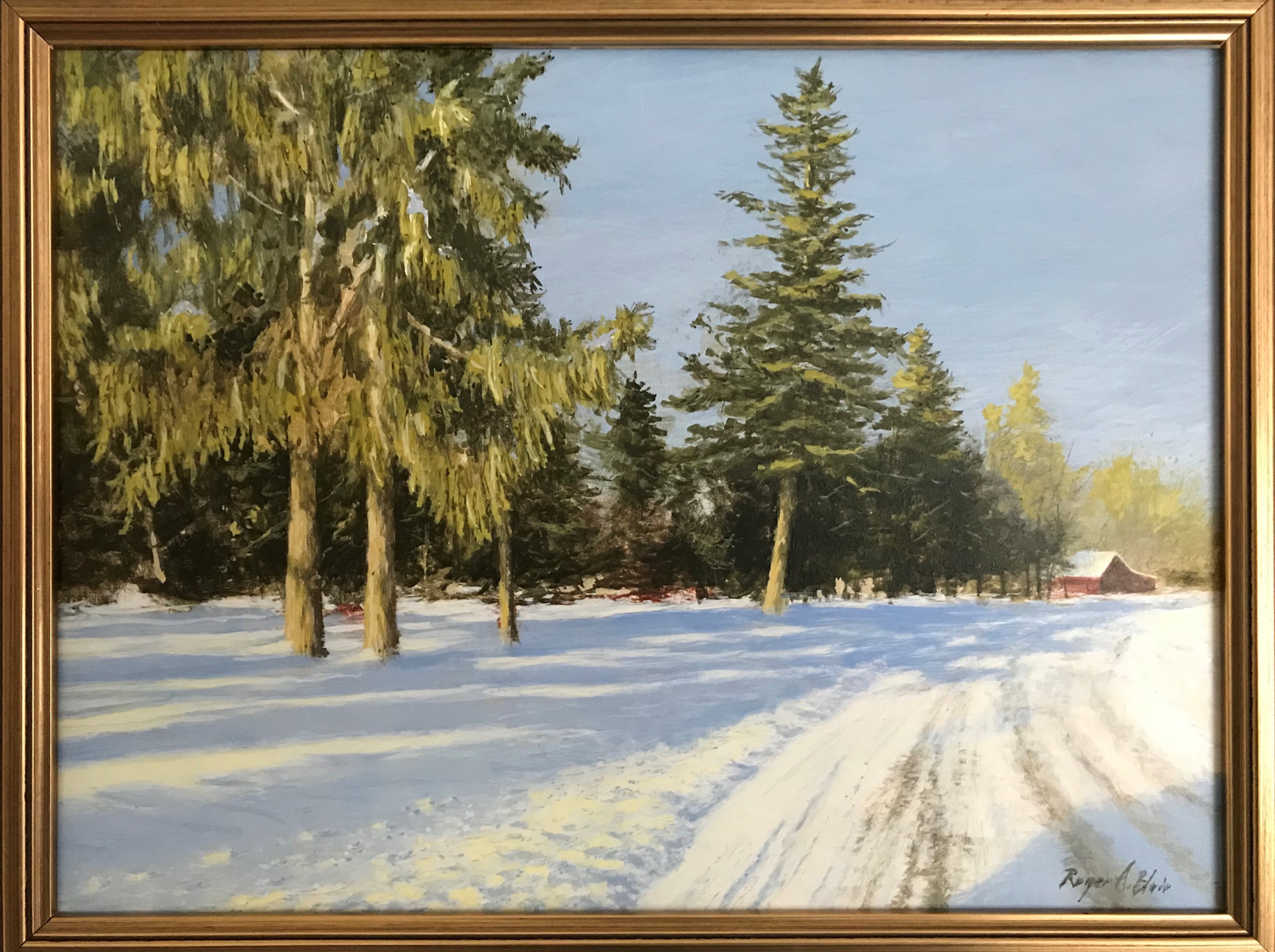 Winter Scape by Roger Blair