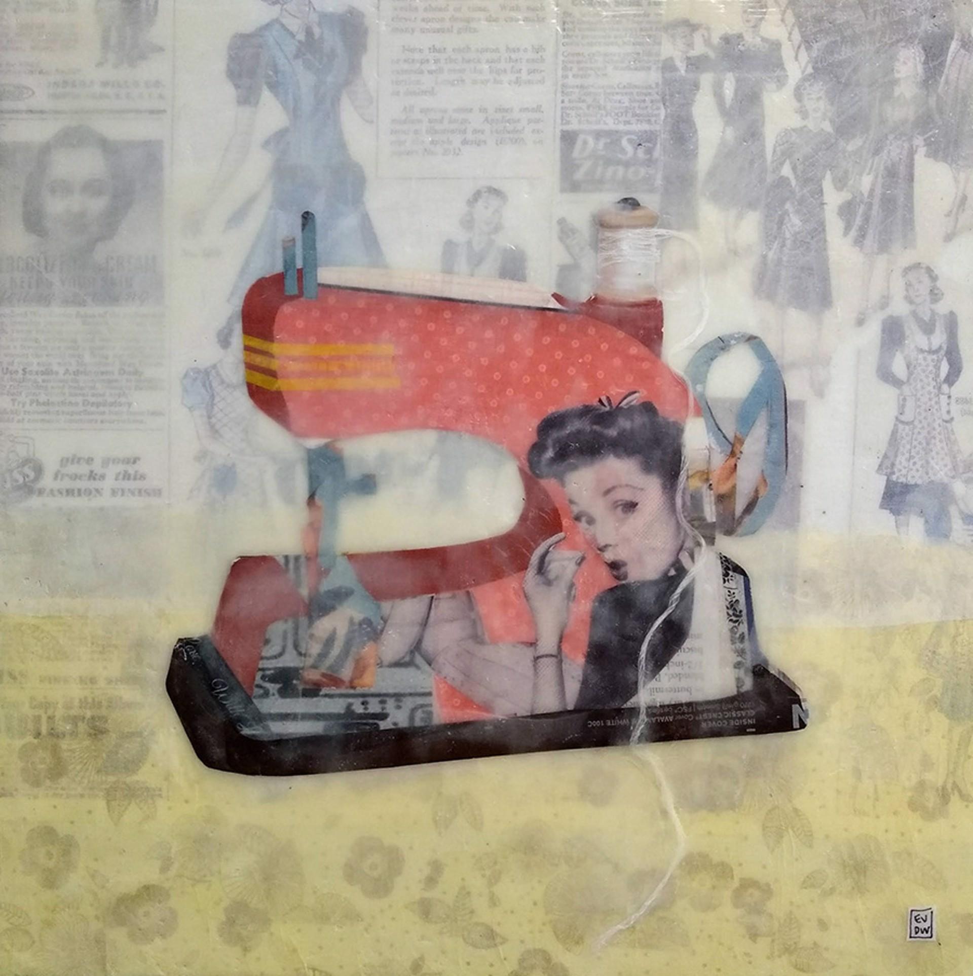 sewing machine by Evelyn Davis-Walker