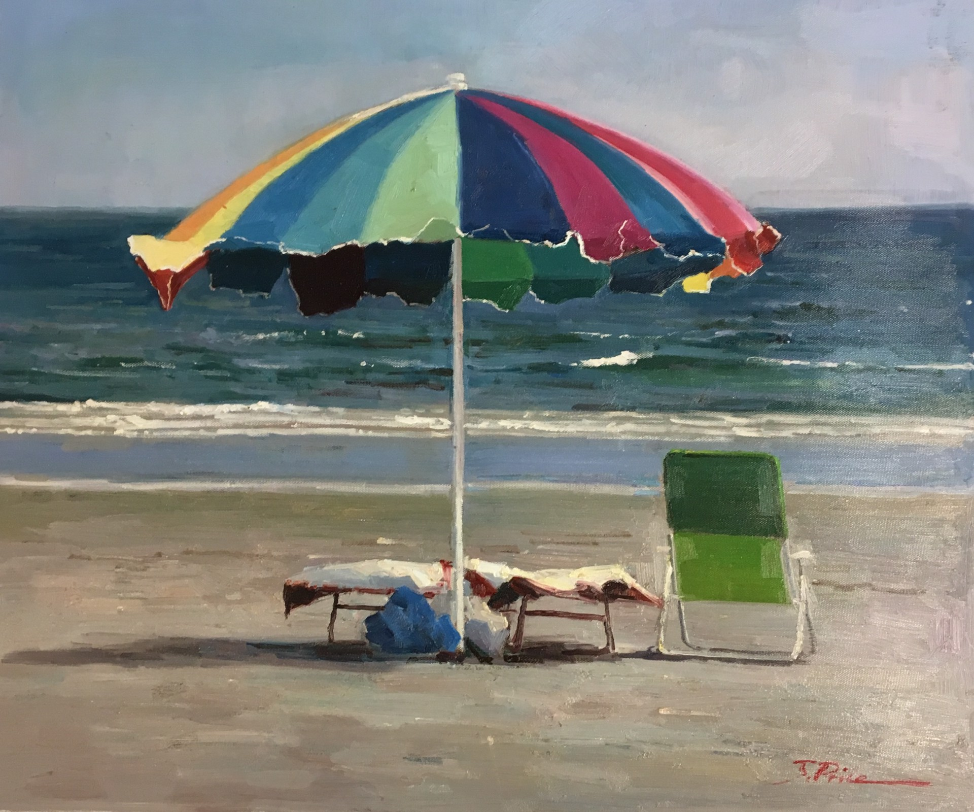 BEACH UMBRELLA by J PRICE