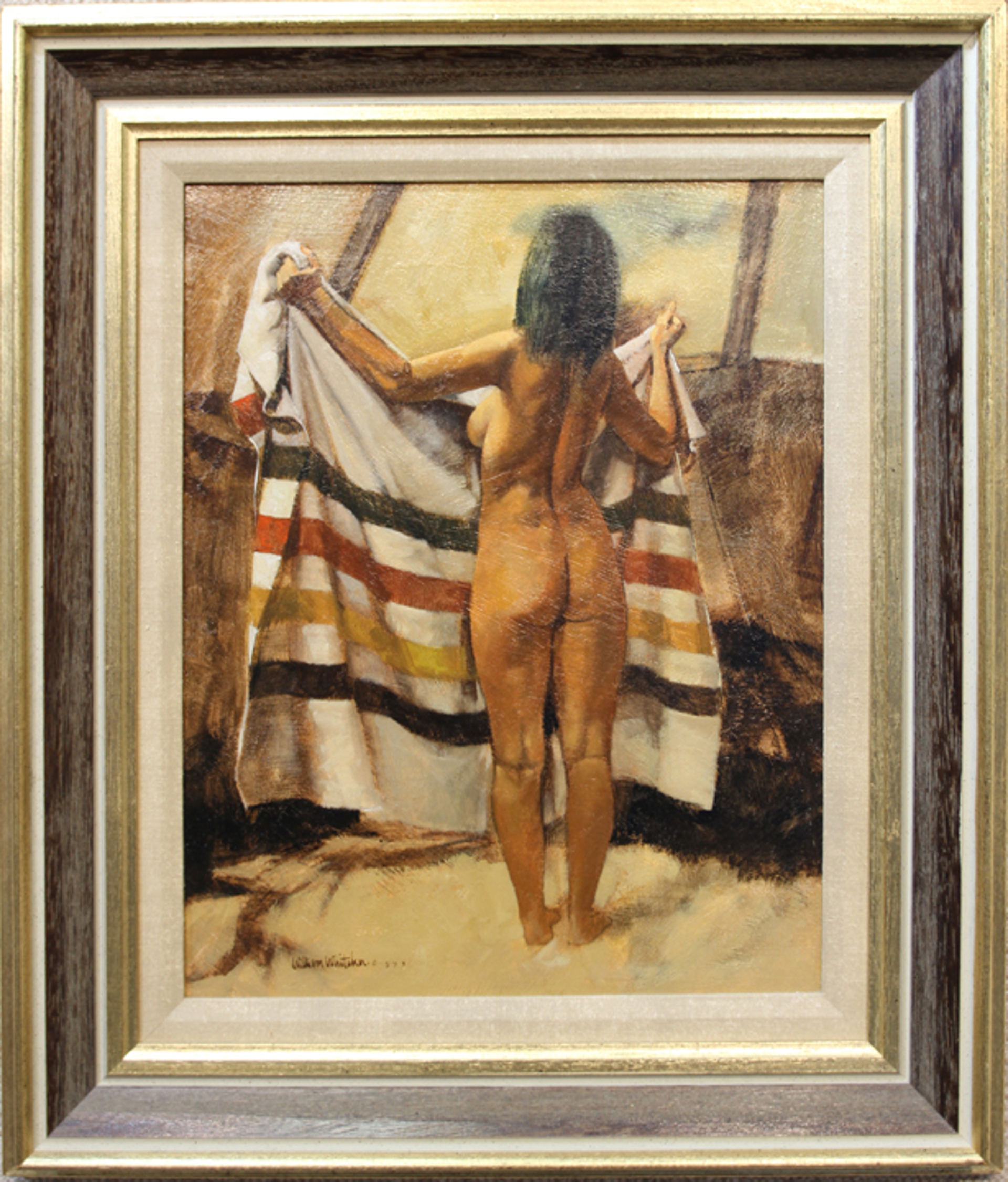 Nude in a Blanket by William Whitaker