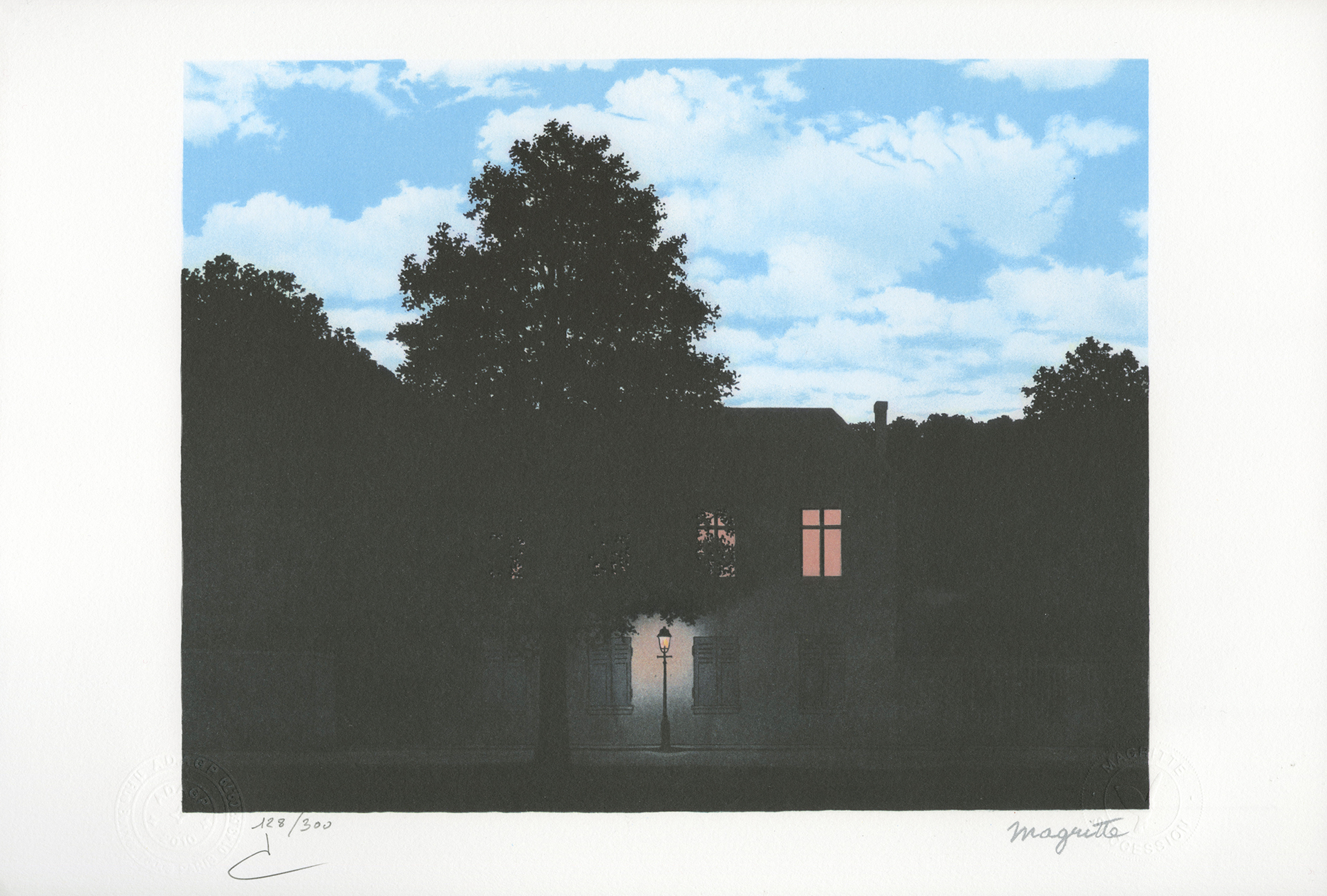L'Empire des Lumières (The Empire of Light) by Rene Magritte