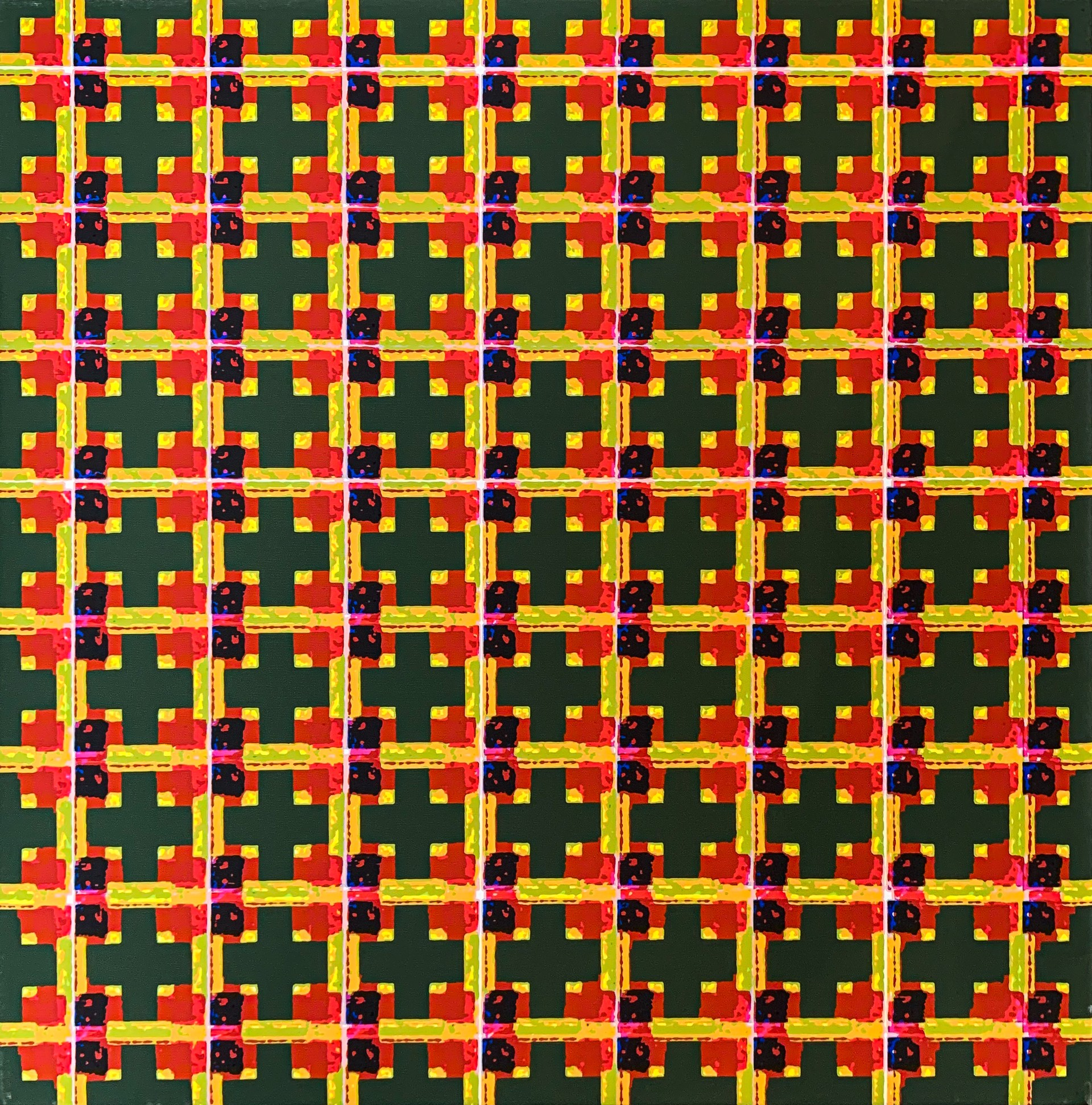 Green Cross Grid by David Miller