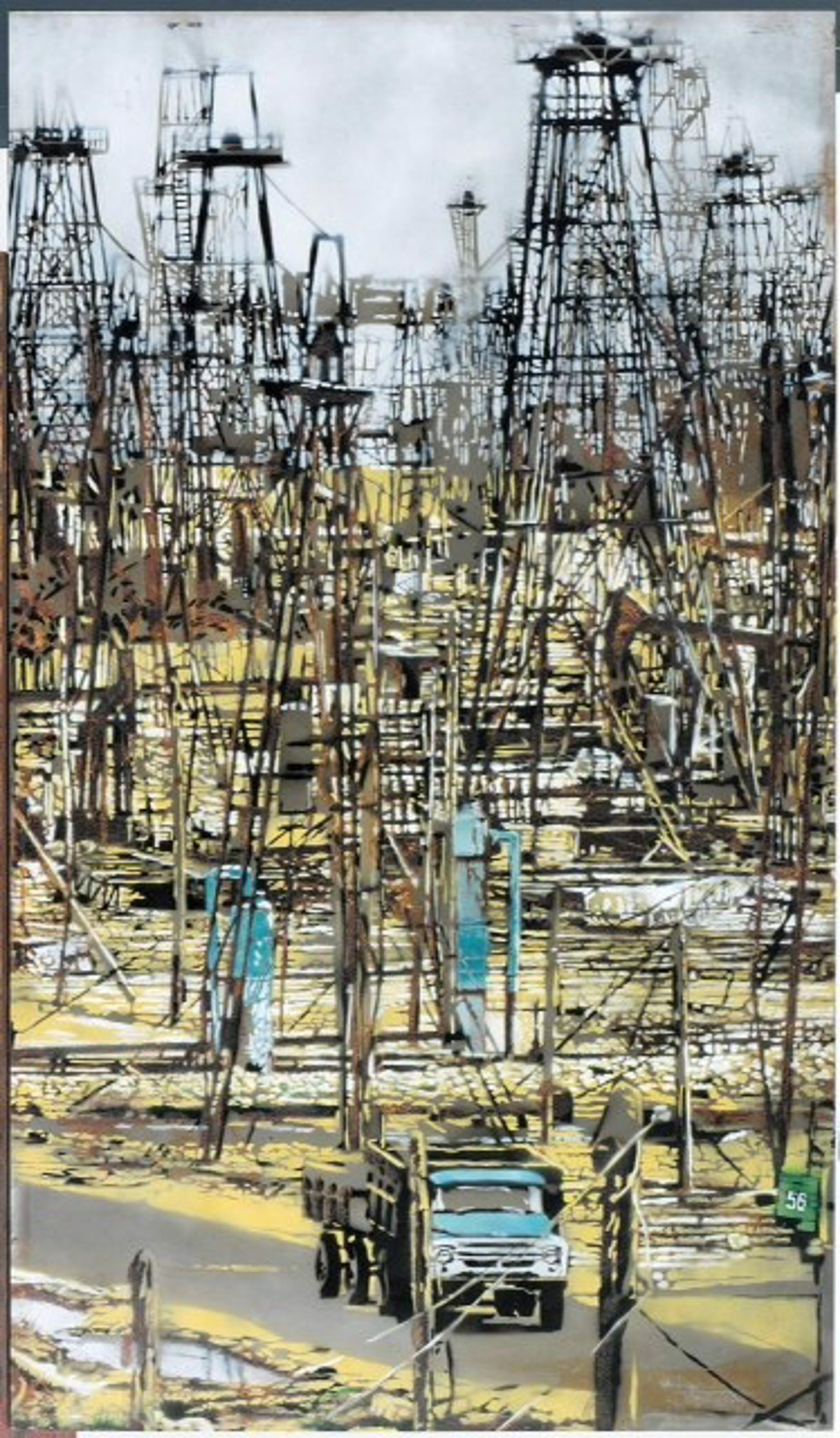 Aserbeidjan (Baku) - Drilling Rigs (3 pieces) by Wolfgang Uranitsch