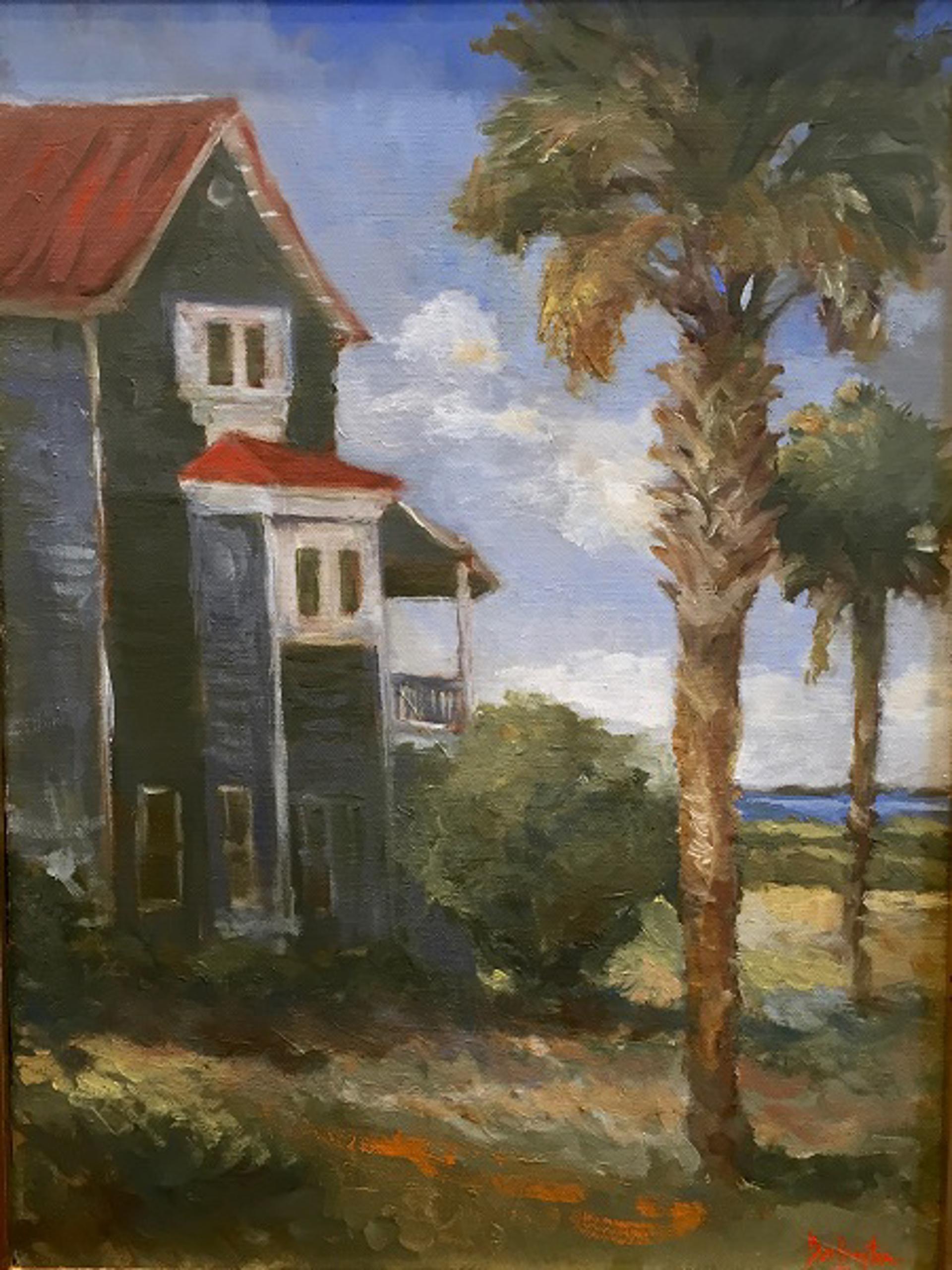 Porpoise Point and Palmettos by Jim Darlington