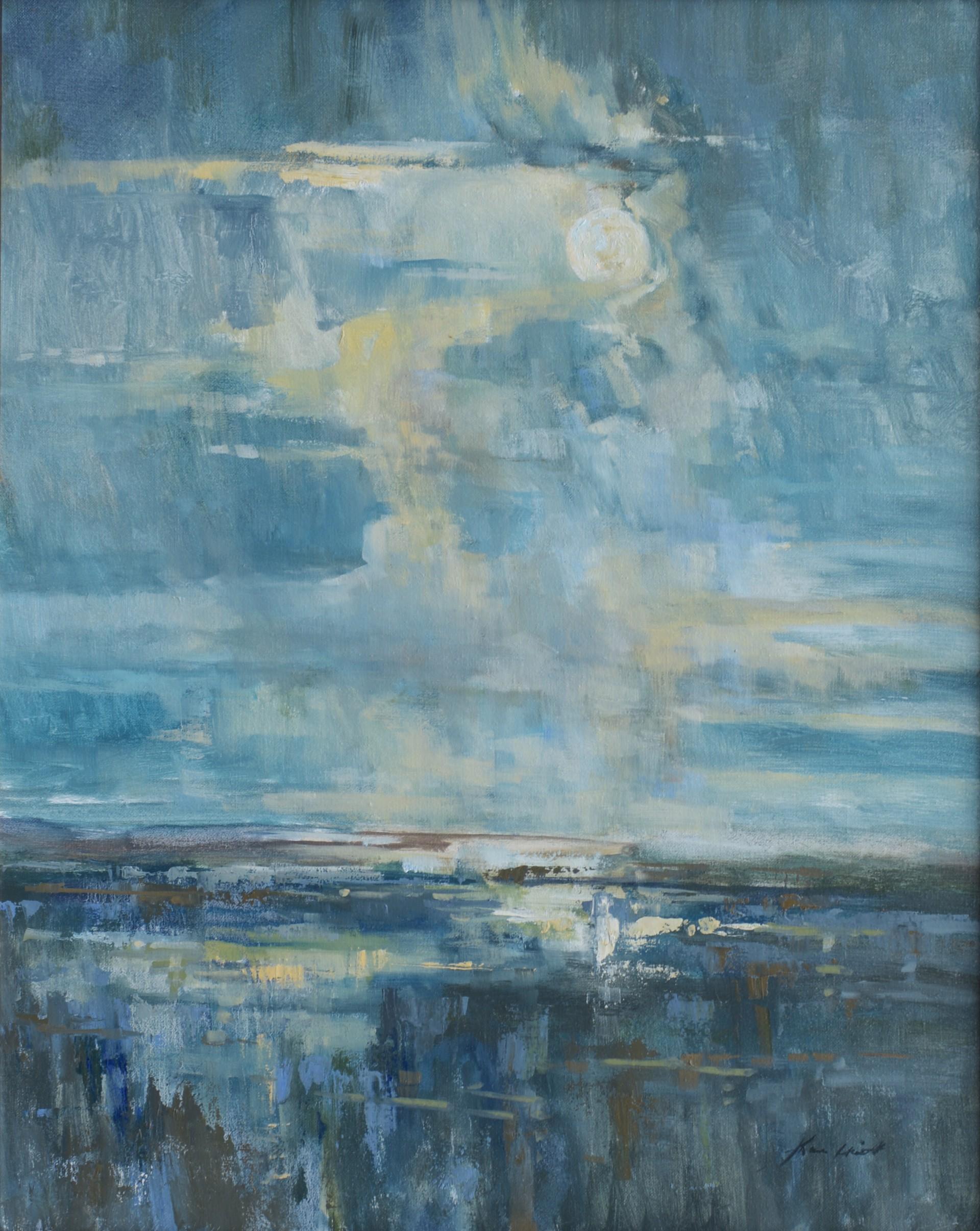 Moon Through the Clouds by Karen Hewitt Hagan