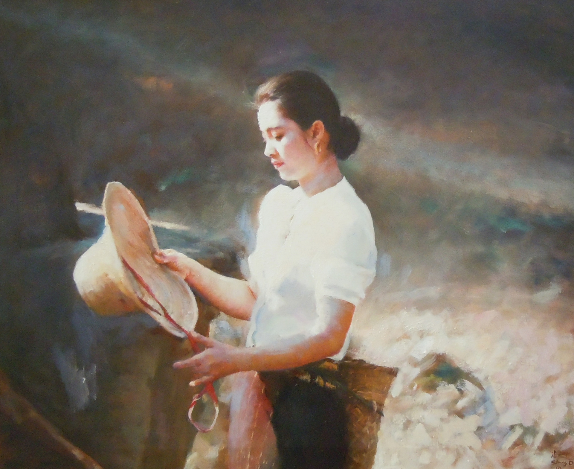Yu Tan with Straw Hat by Shang Ding