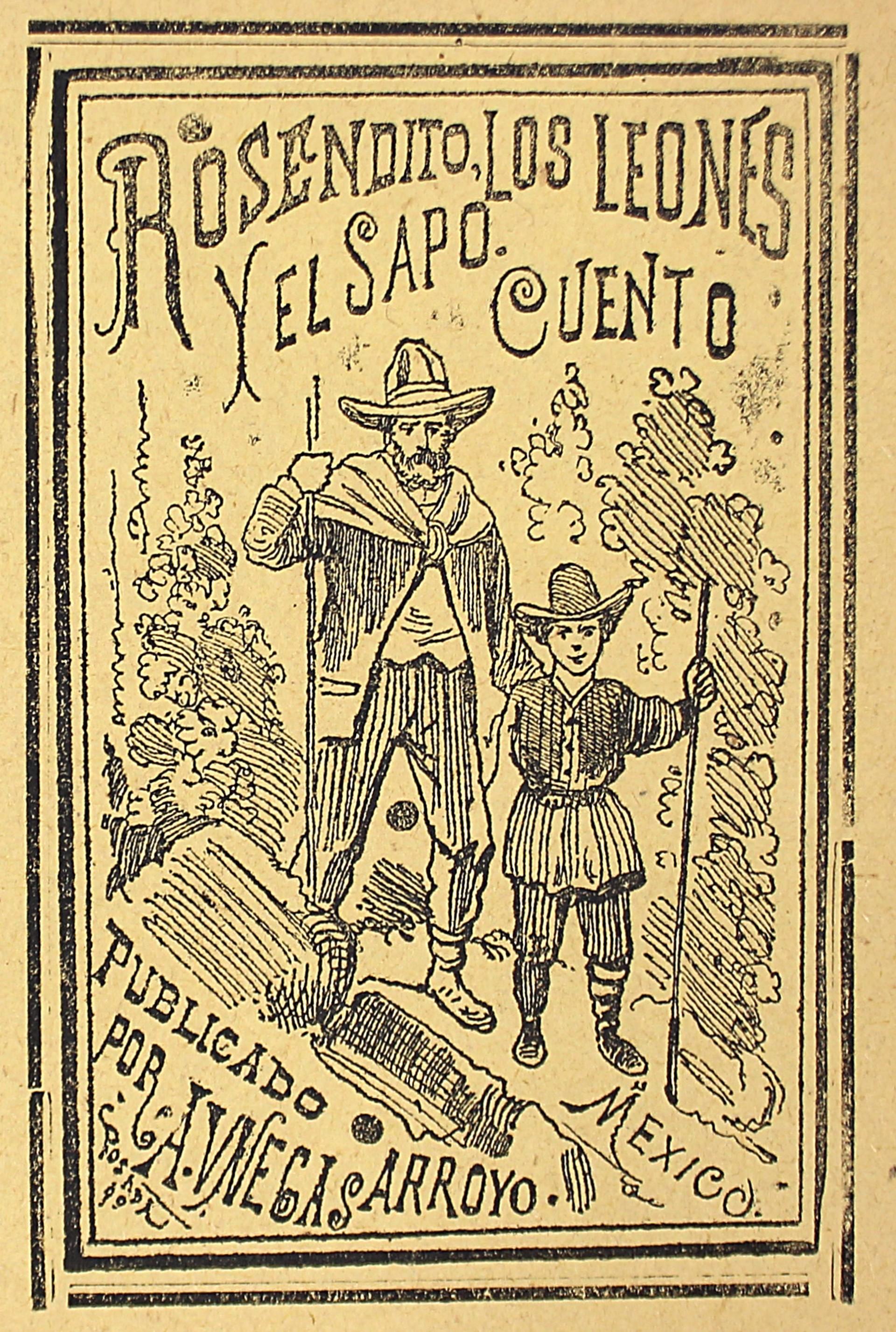 Rosendito, Los Leones Y El Sapo by José Guadalupe Posada (1852 - 1913)