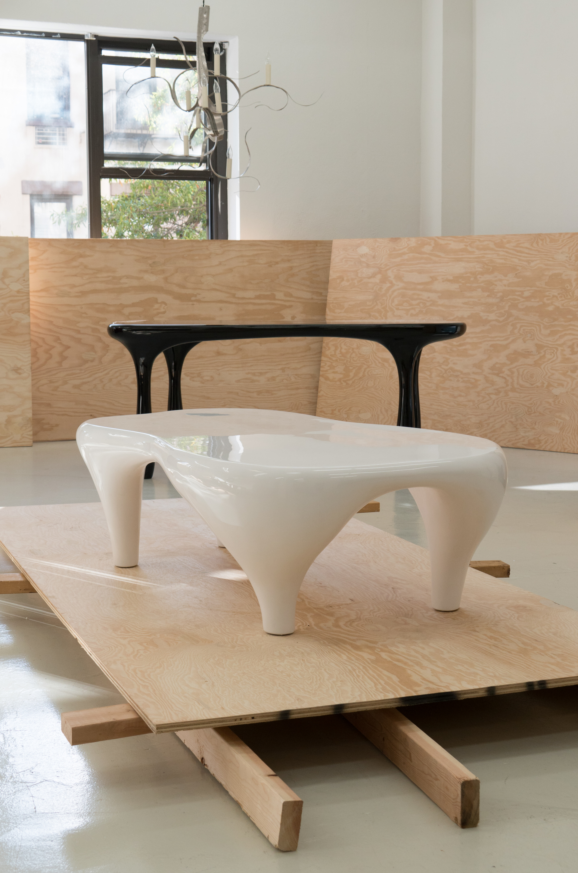 """Toro"" Coffee Table in white by Jacques Jarrige"