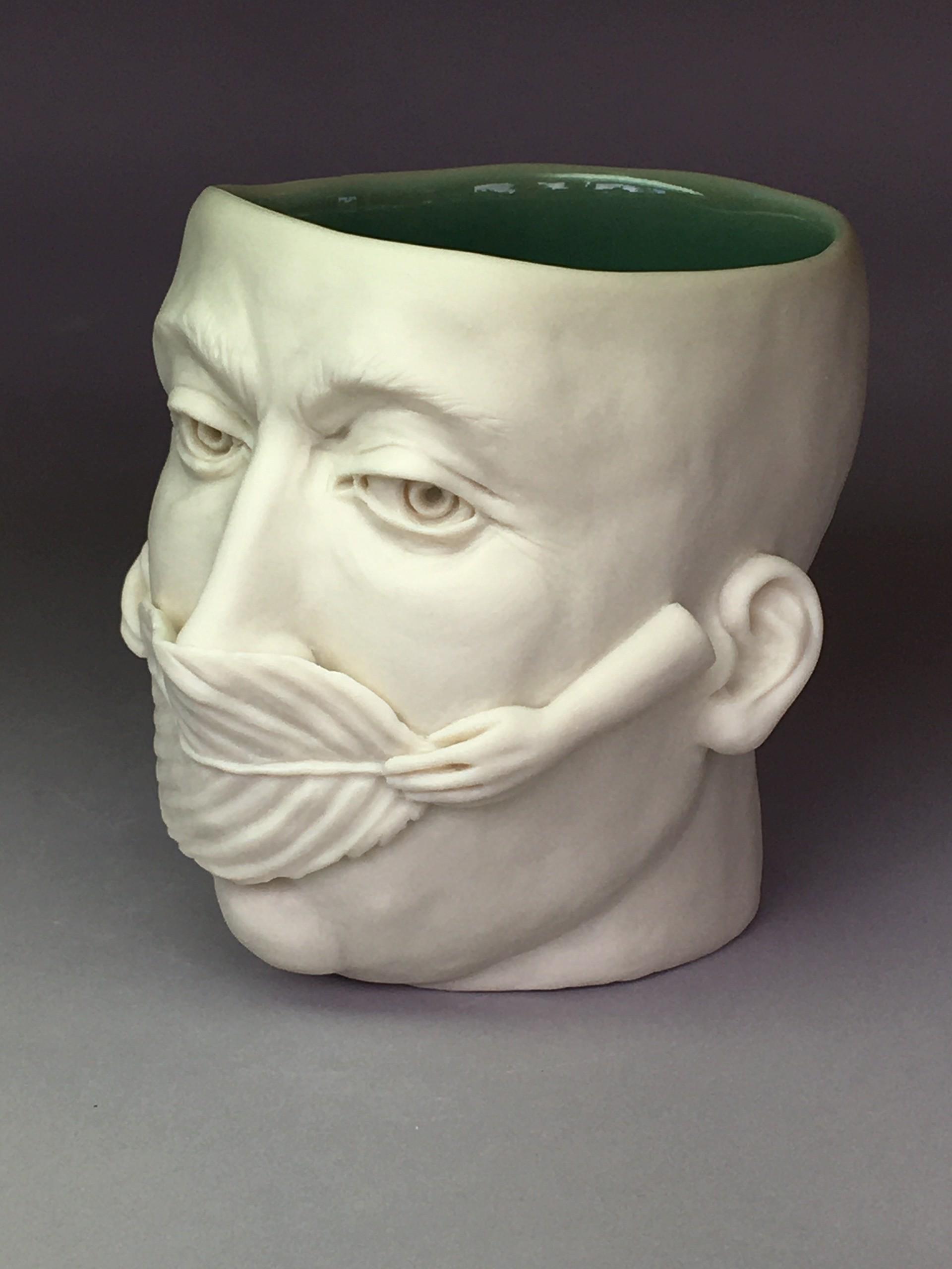 """Leaf Mask, Earth Day III, 2020"" (eyes open) by Adrian Arleo"