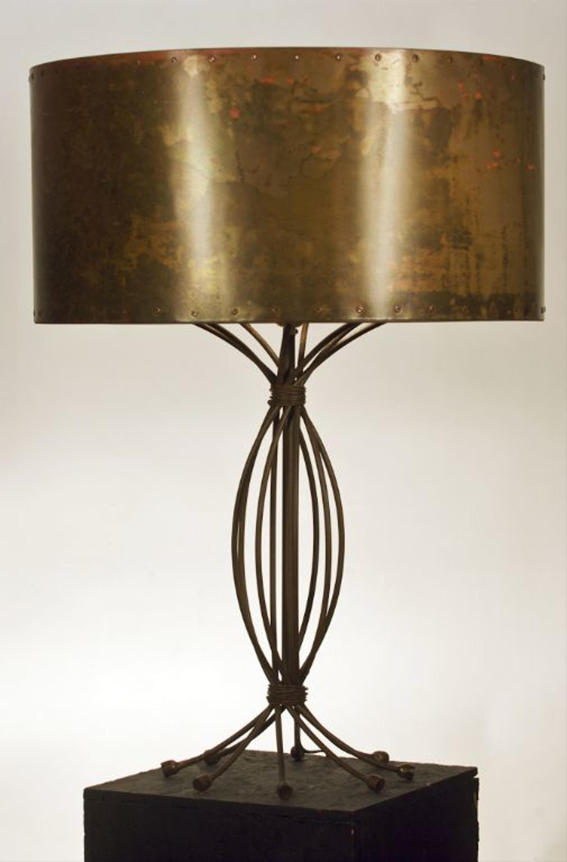 Copper Desk Lamp by Tim Adams Iron-worker