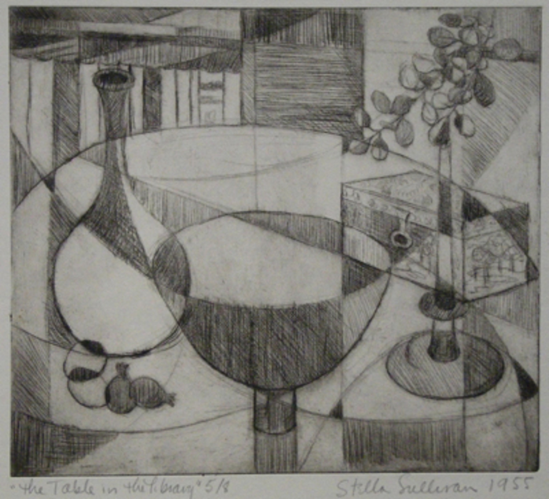 The Table in the Library by Stella Sullivan Prints